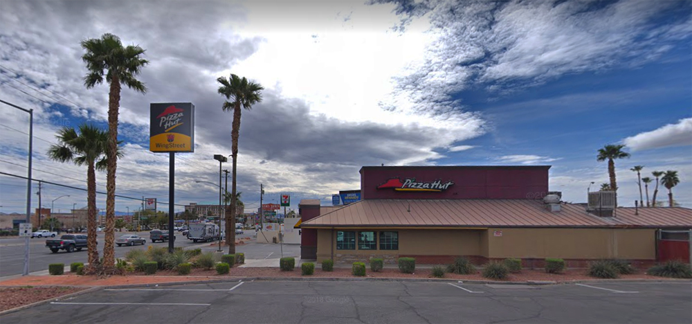 The exterior of a vacant Pizza hut restaurant that will be the future home of Hot N Juicy Crab.