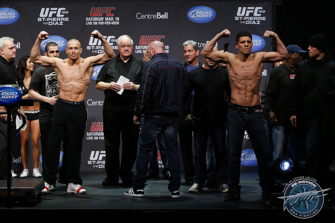GSP and Nick Diaz Pose off