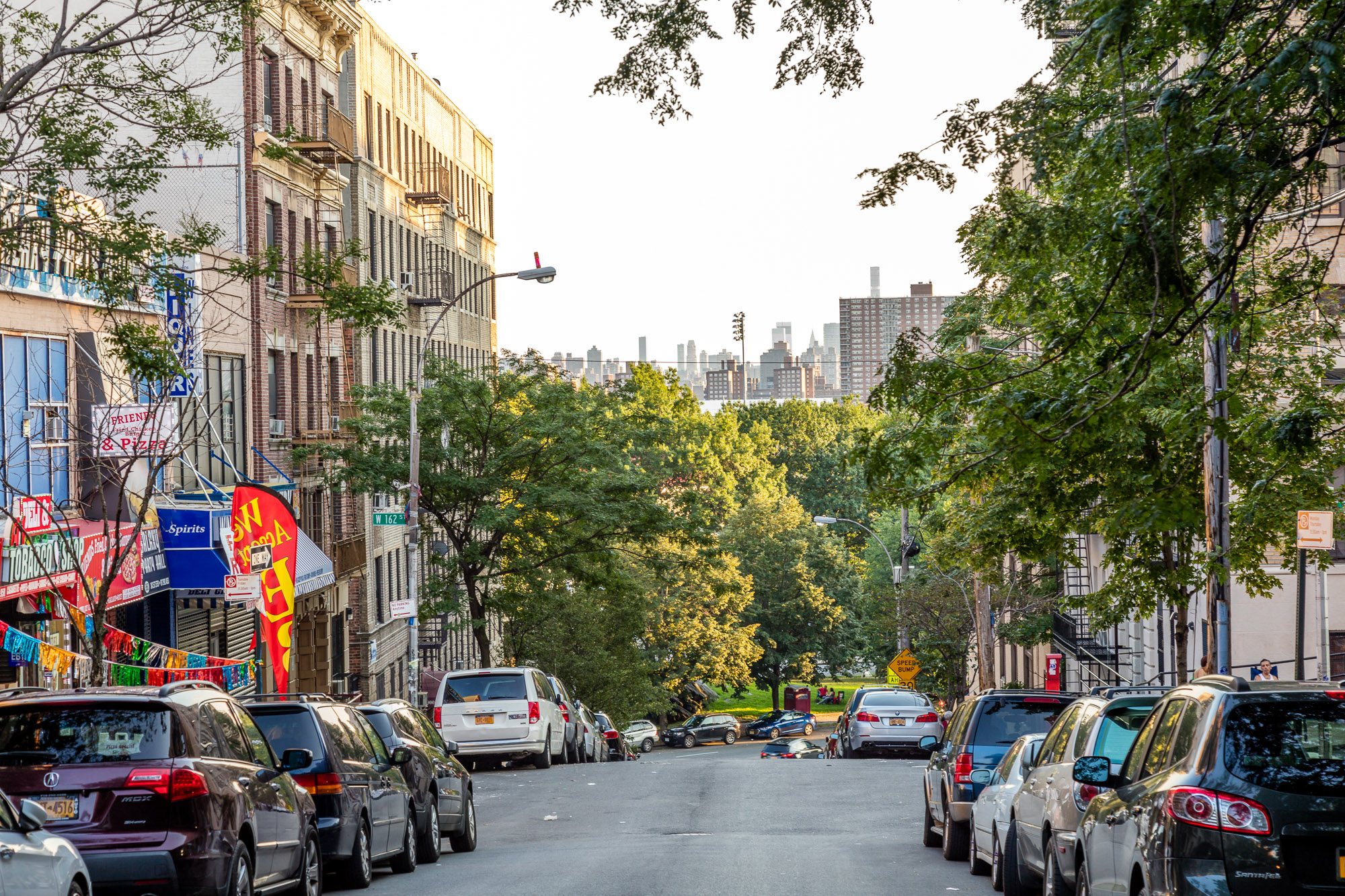 A view of a street in the Mount Eden section of the Bronx.