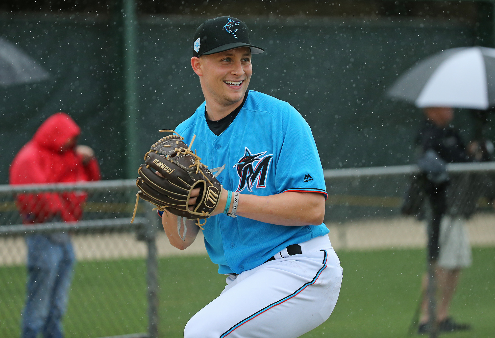 Miami Marlins spring training baseball workouts for pitchers and catchers 2/13/2019