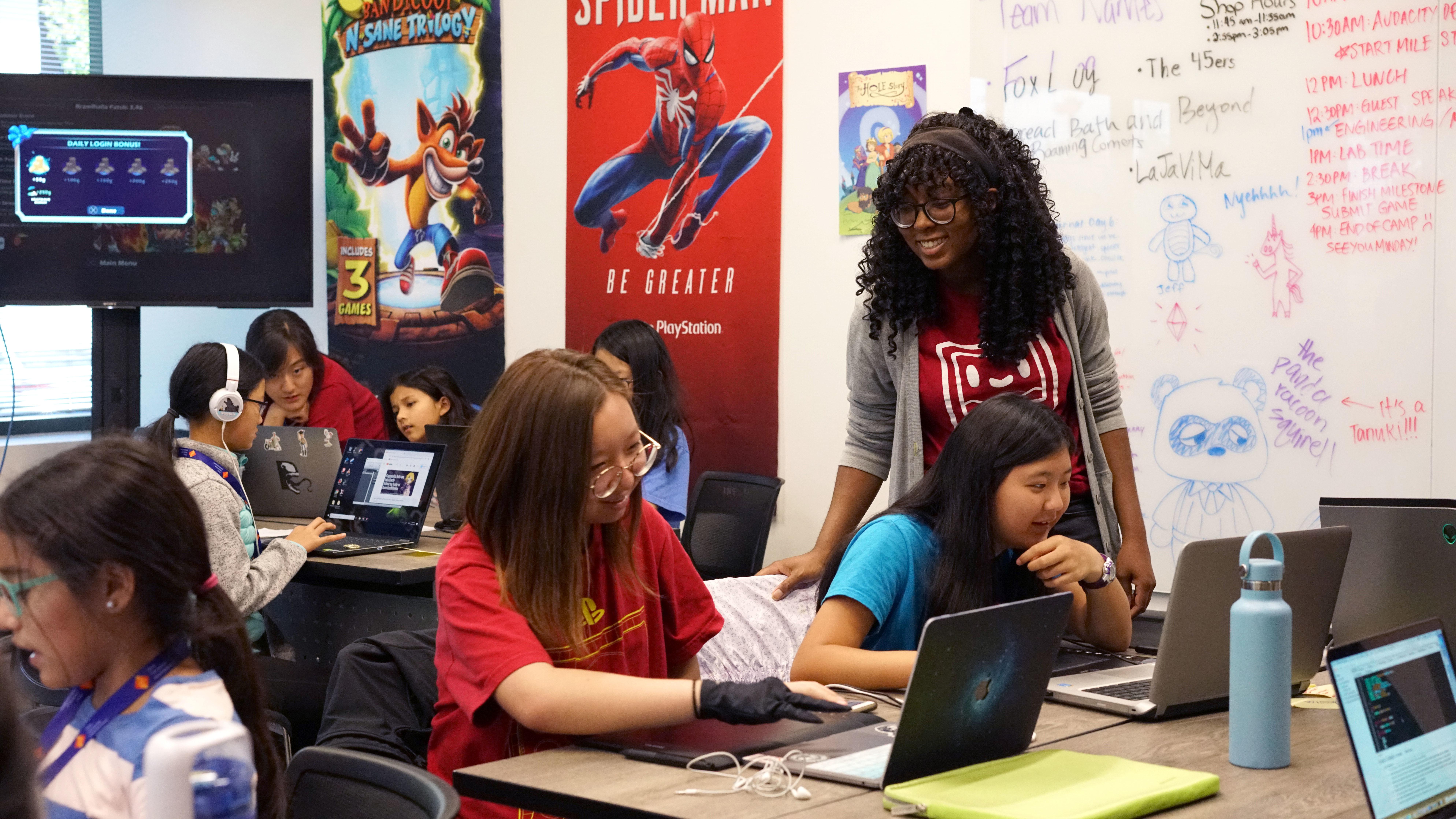 Girls Make Games in San Mateo, 2019