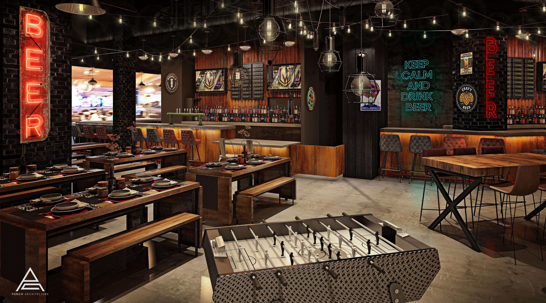 A rustic bar