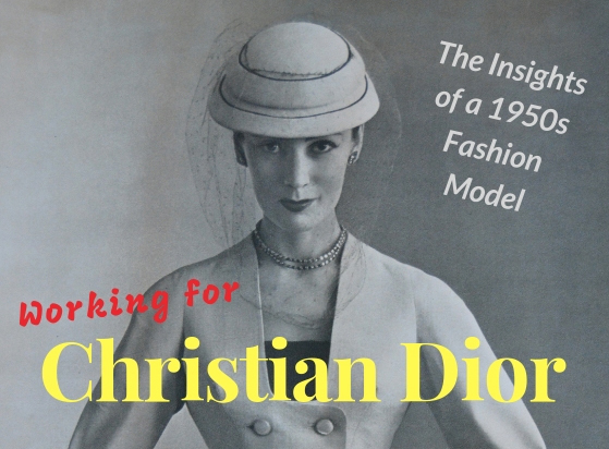 This image shows an inset of the book cover image of 'Working For Christian Dior' by Jean Dawnay.