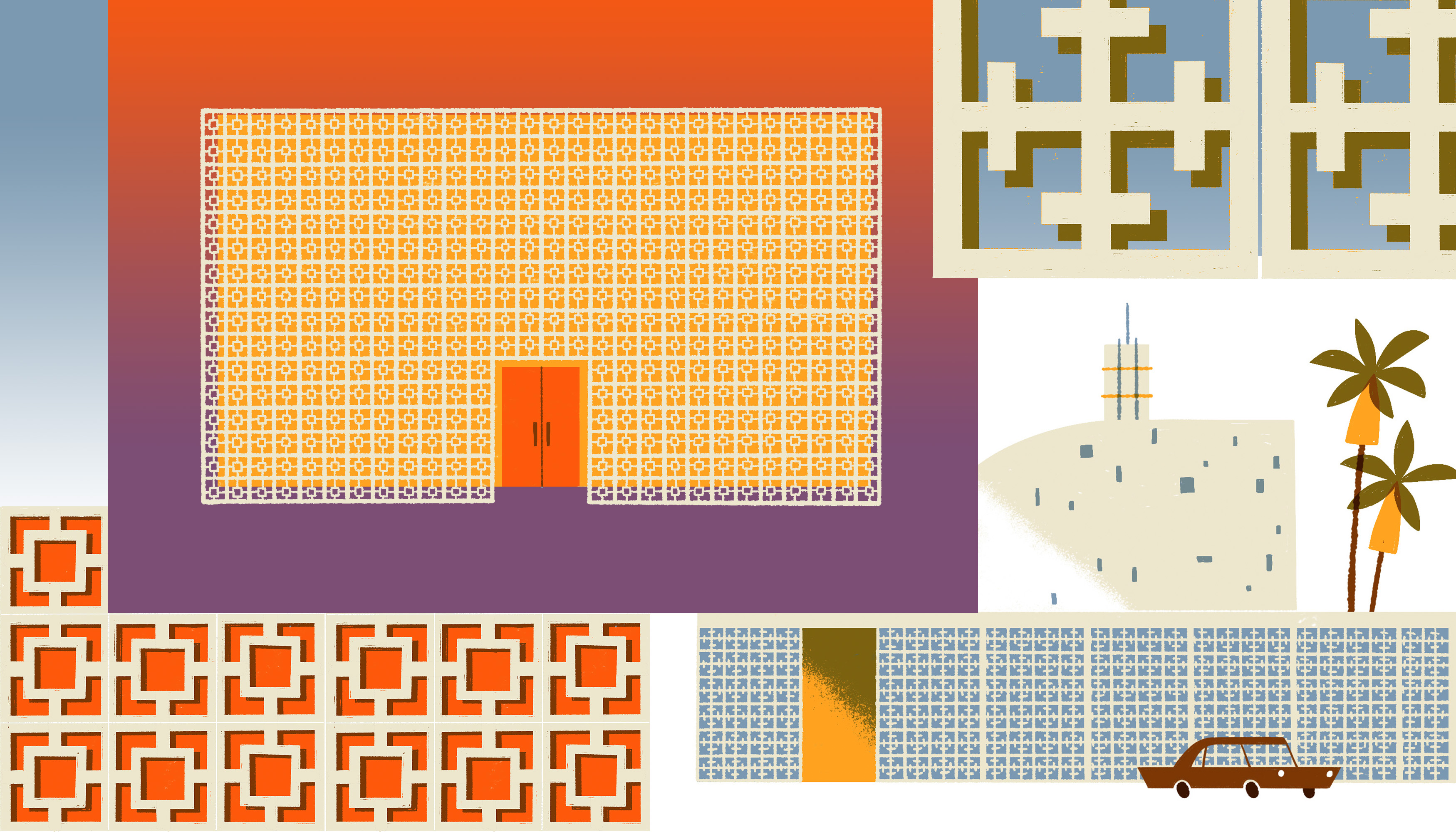 An illustrated guide to SoCal breeze blocks