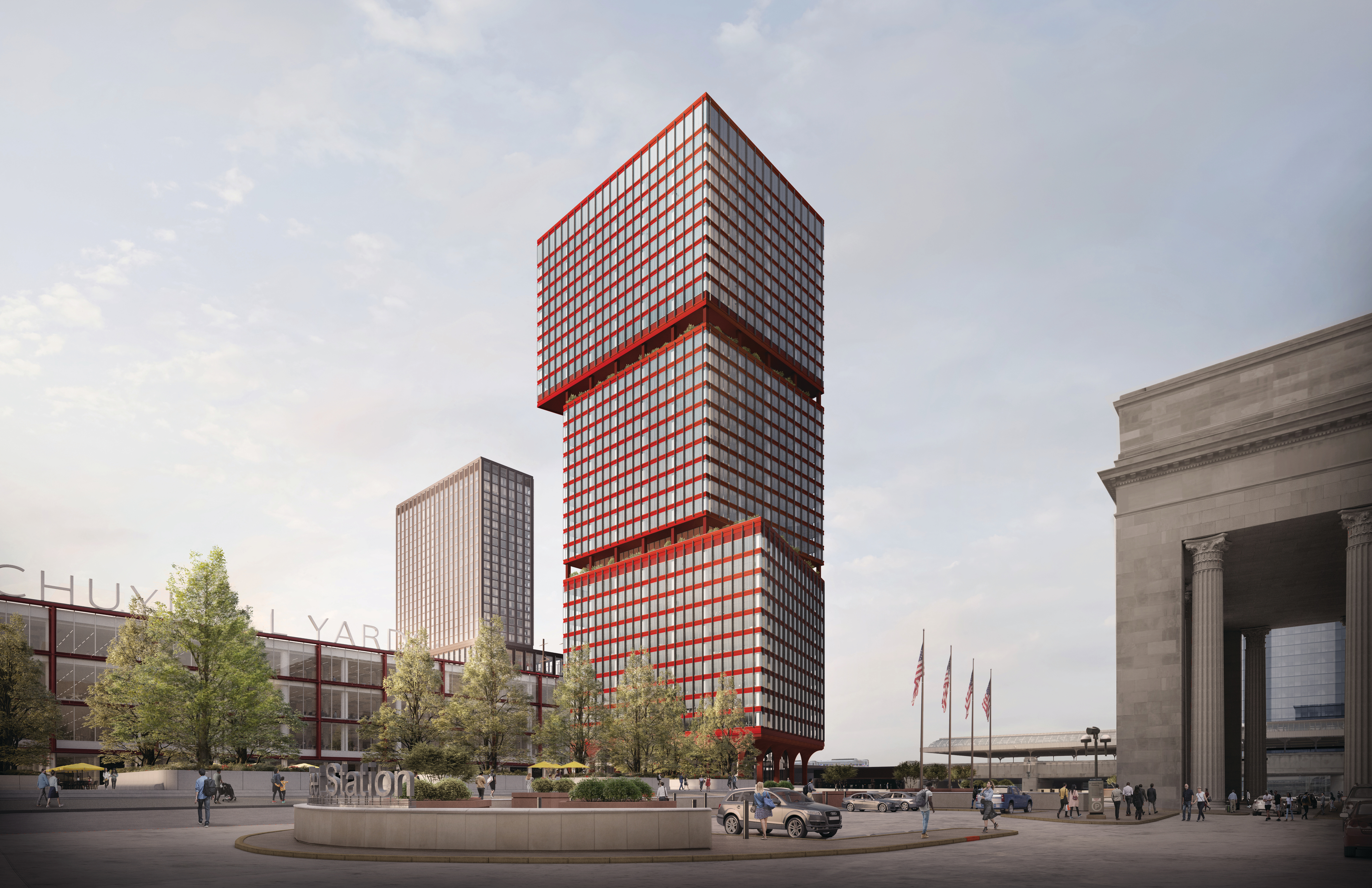 Developers reveal renderings for Schuylkill Yards towers