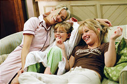 "Heather Locklear, left, Aria Wallace and Hilary Duff star in ""The Perfect Man."""