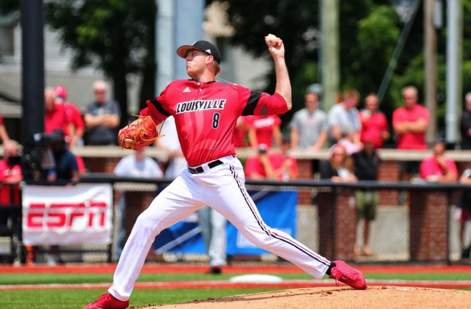 Nick Bennett pitchers for Louisville