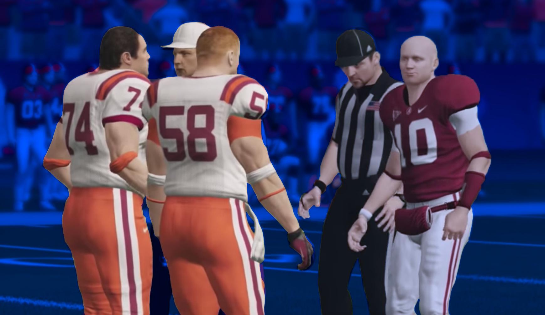 NCAA Football overtime coin flip