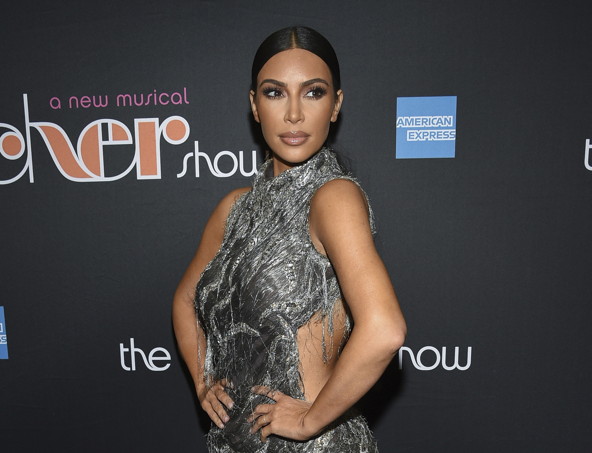 """Kim Kardashian West arrives for """"The Cher Show"""" Broadway musical opening night in New York last year."""