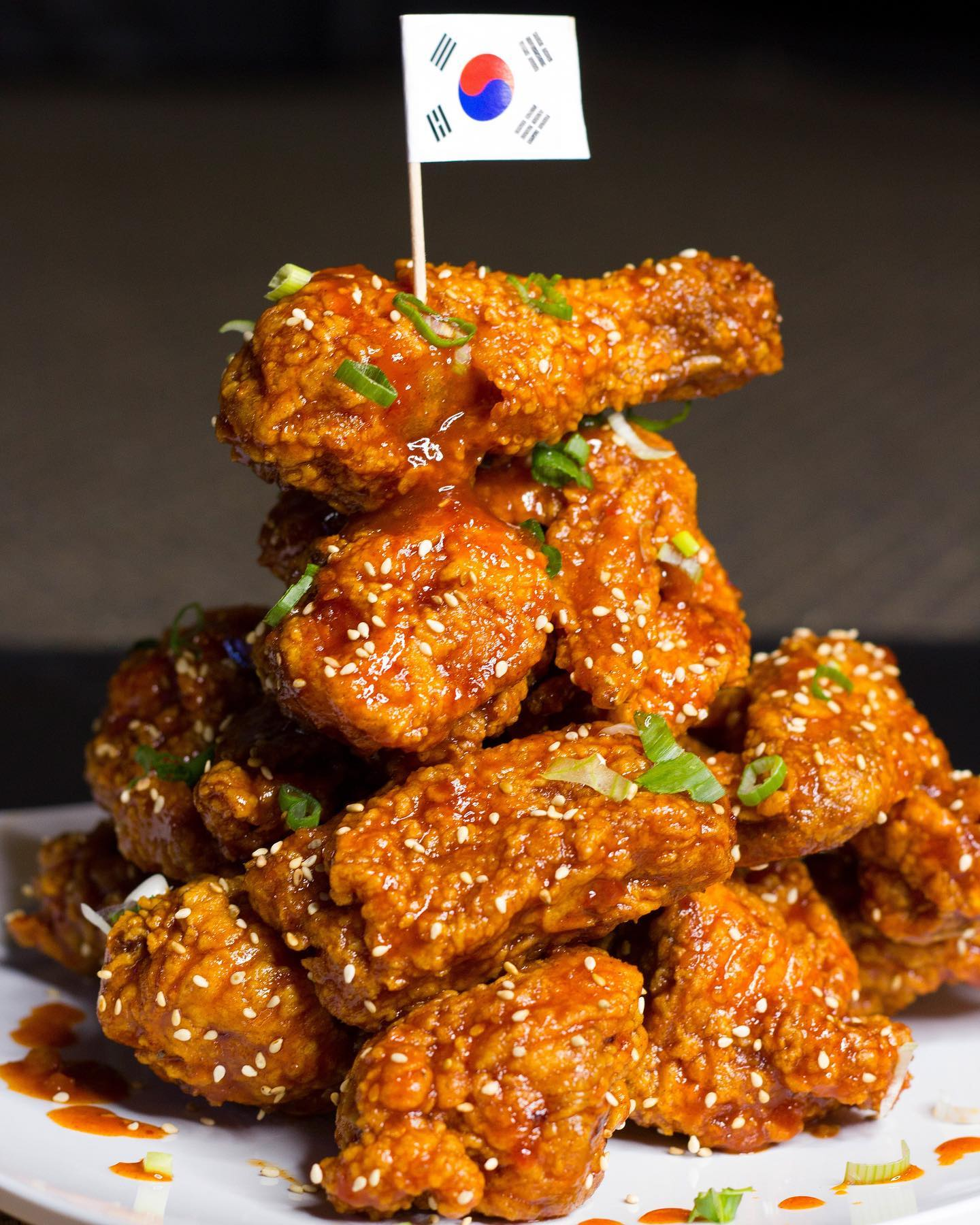 A pile of Korean fried chicken from College Roadhouse