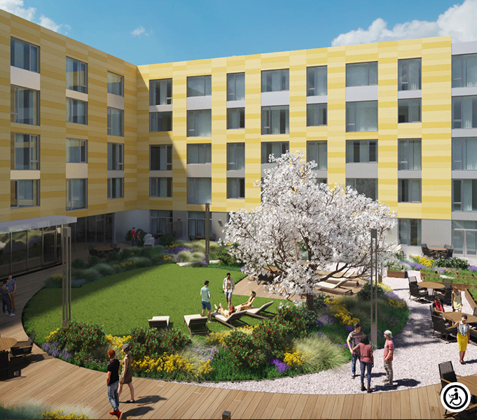 A rendering of a new apartment building in Boston.