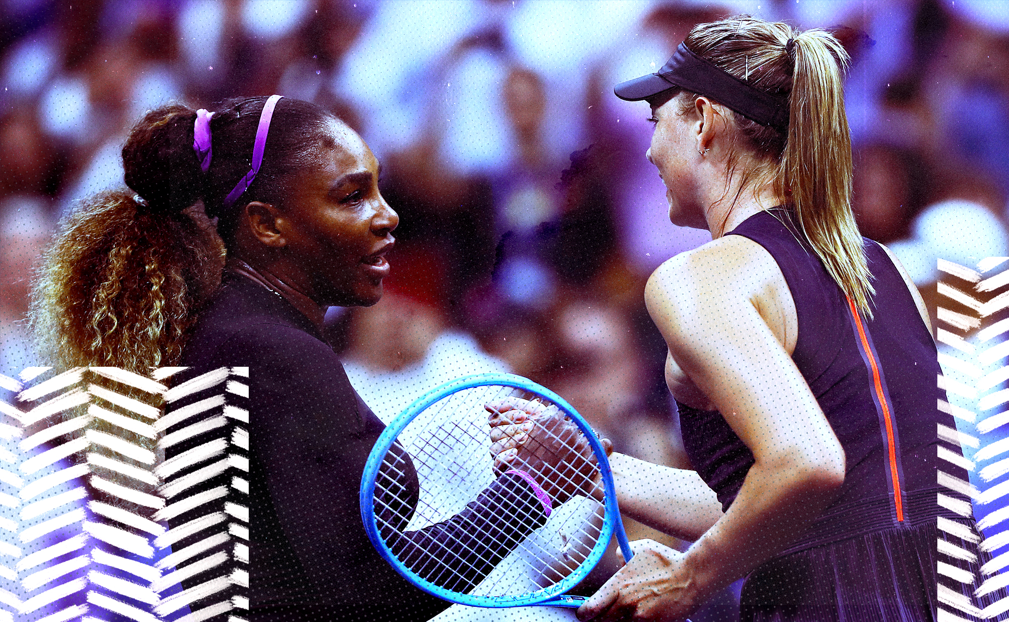 Serena Williams and Maria Sharpova at the U.S. Open. They're rivals ... but not really.