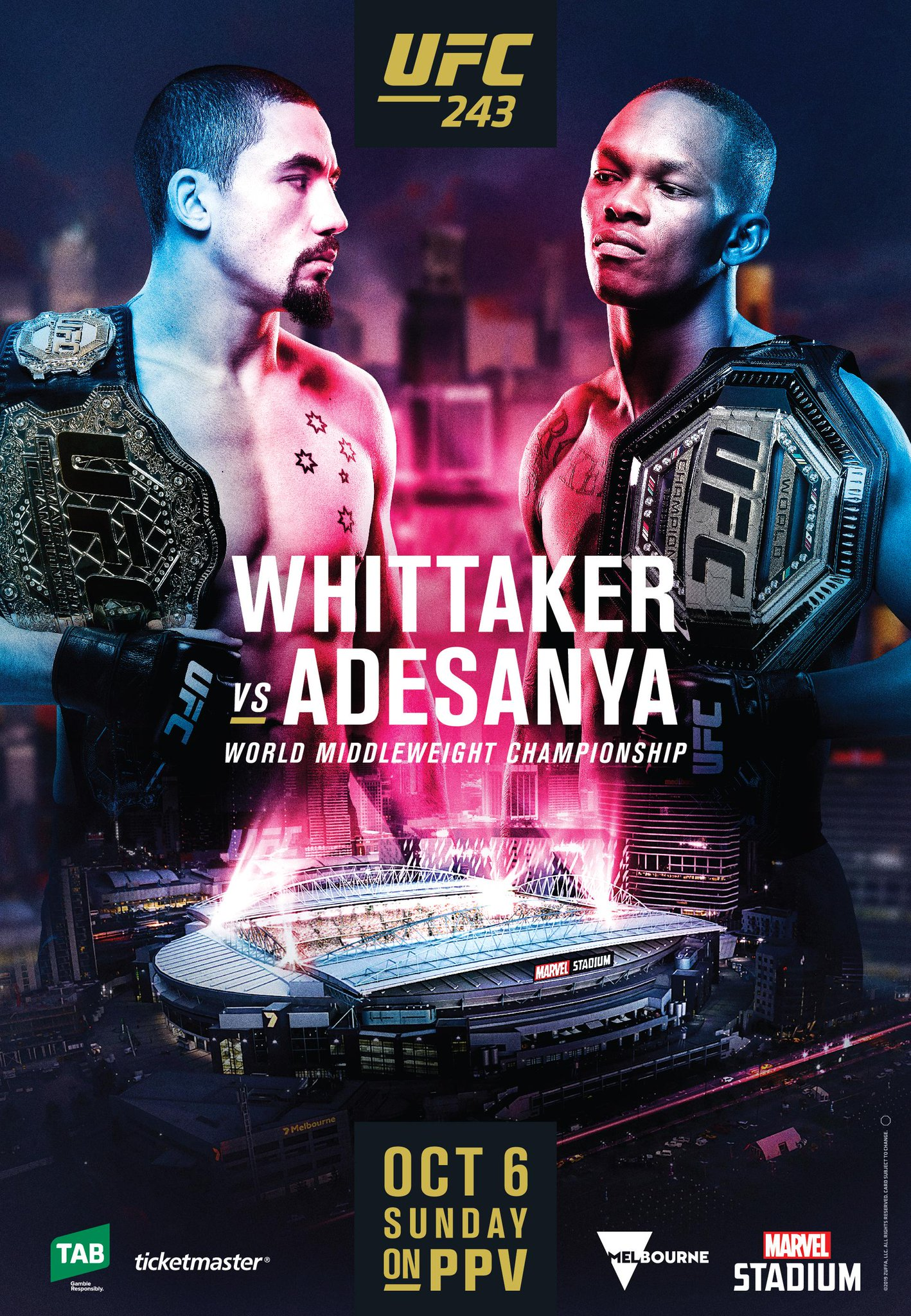 Pic: UFC 243 poster drops for 'Whittaker vs Adesanya