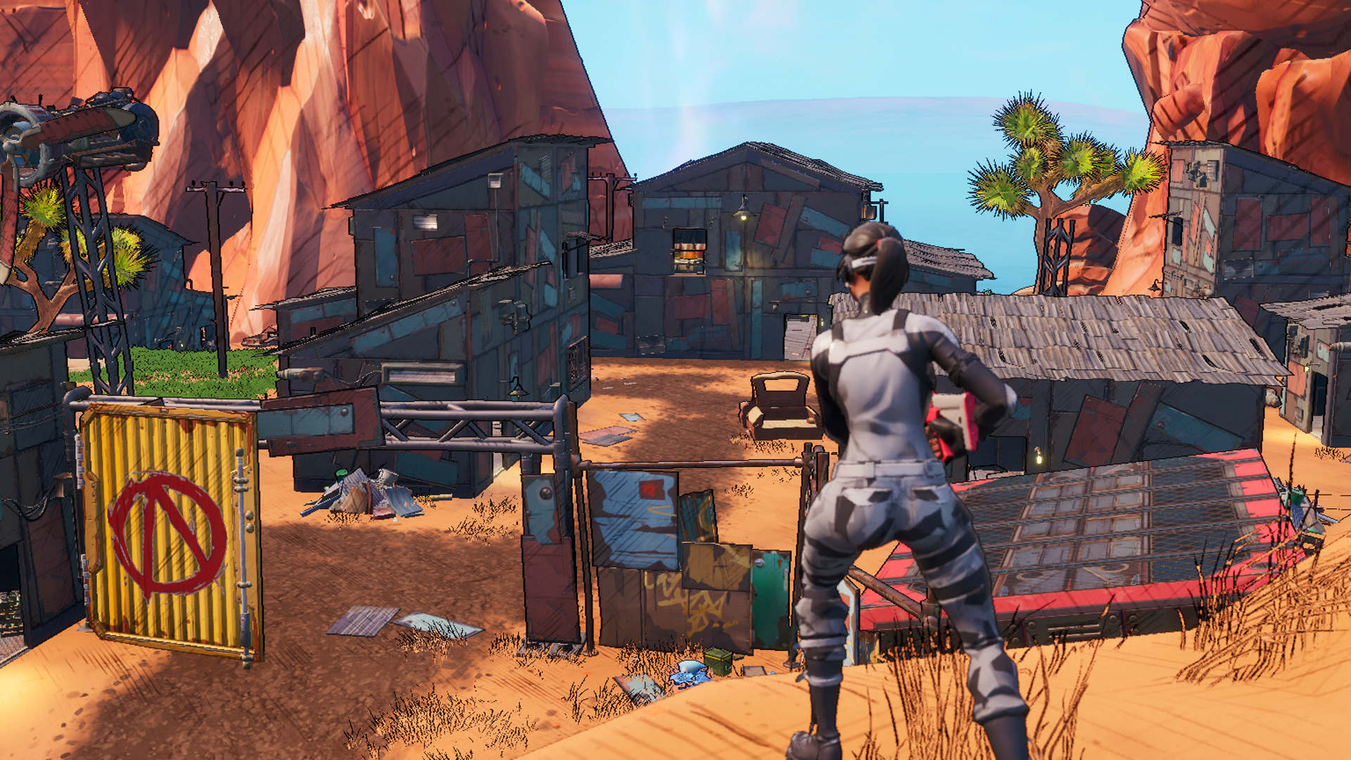 Fortnite's latest patch adds a Borderlands-themed area and the new Shield Bubble item