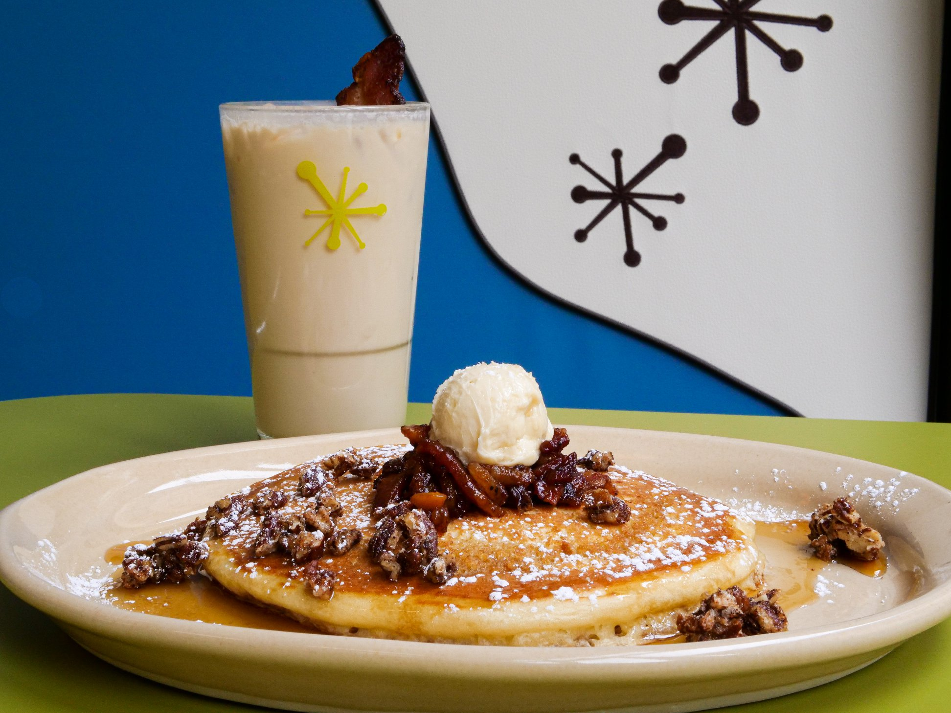 Pancakes and a cocktail at Snooze