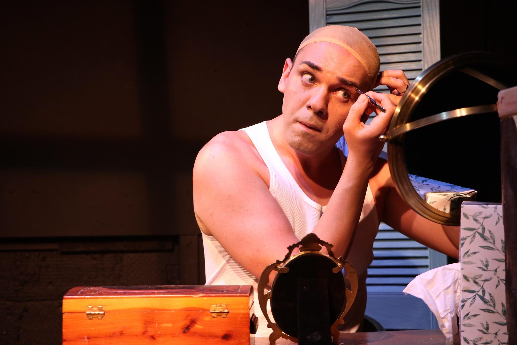 "Patrick Byrnes stars as George/Valentina in ""Casa Valentina."""