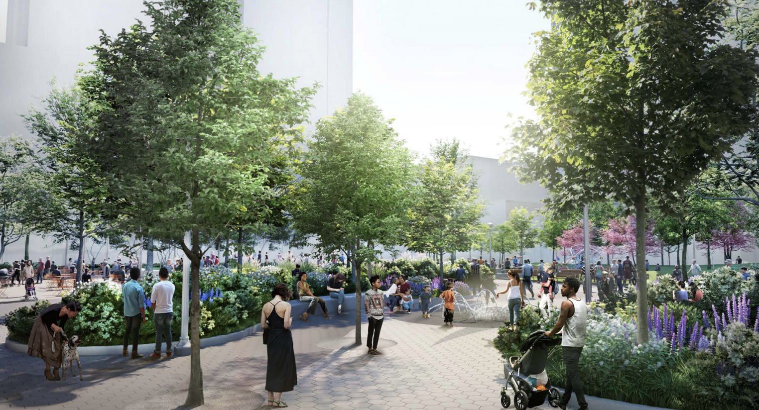Long-stalled Willoughby Square Park gets fresh renderings