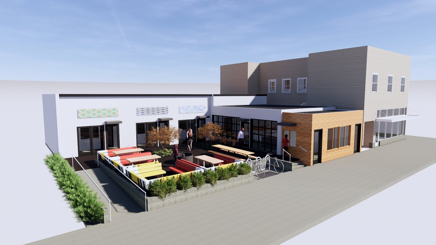A picture of Rocket Empire Machine, the new food hall and brewpub on NE Glisan