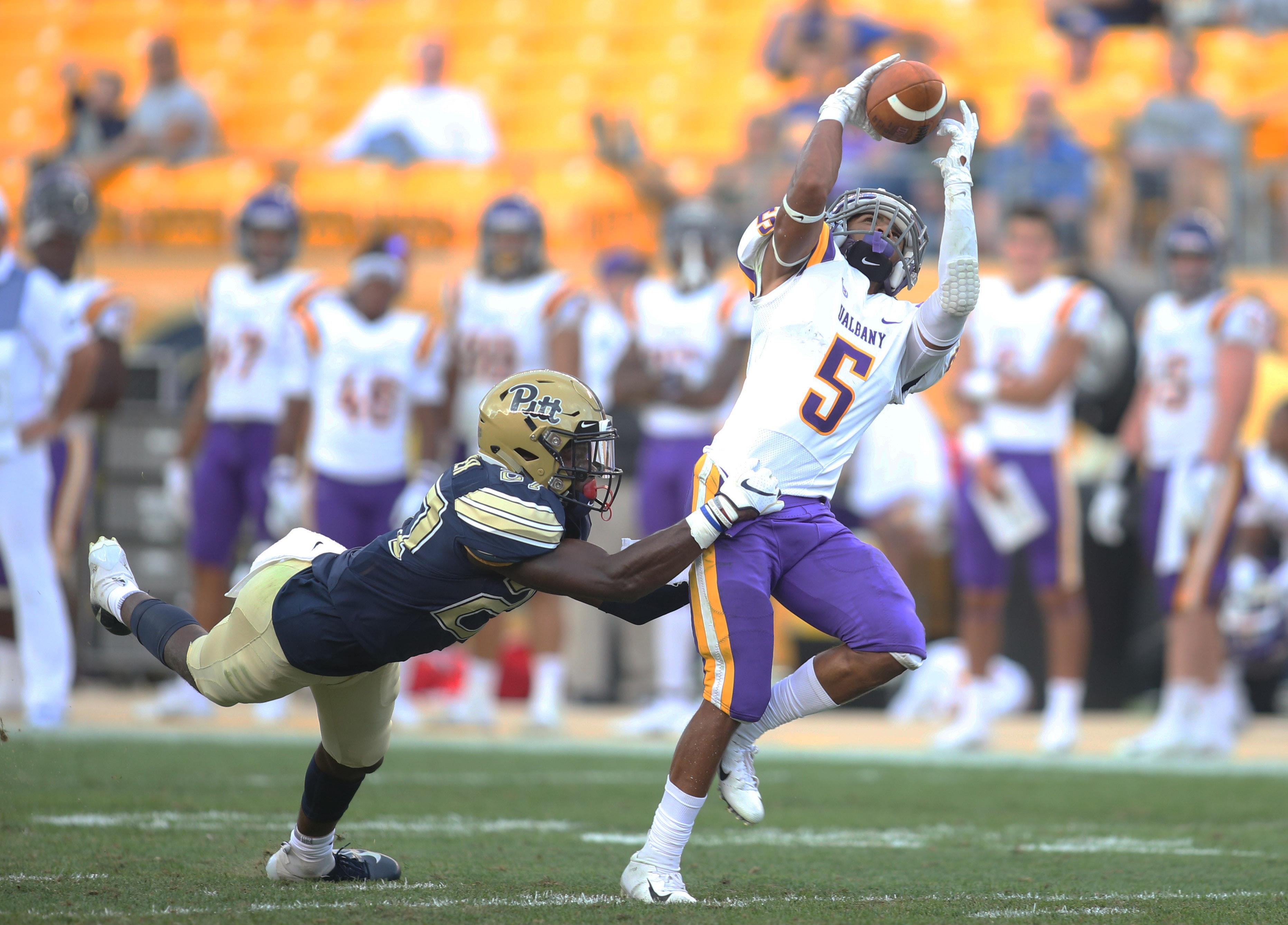 NCAA Football: Albany at Pittsburgh