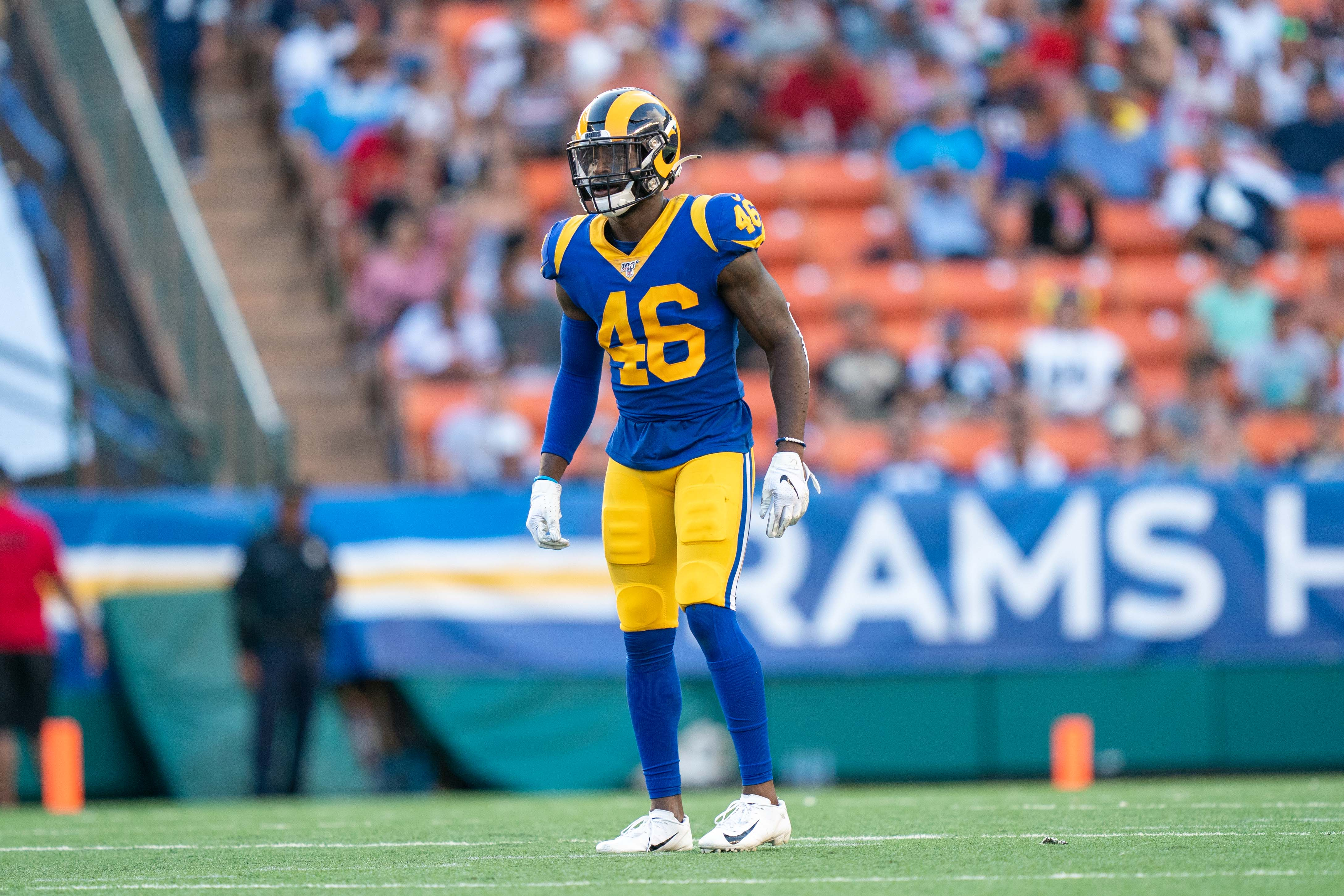 Los Angeles Rams S Nick Scott during the third quarter against the Dallas Cowboys in the Rams' second game of the preseason, Aug. 17, 2019.