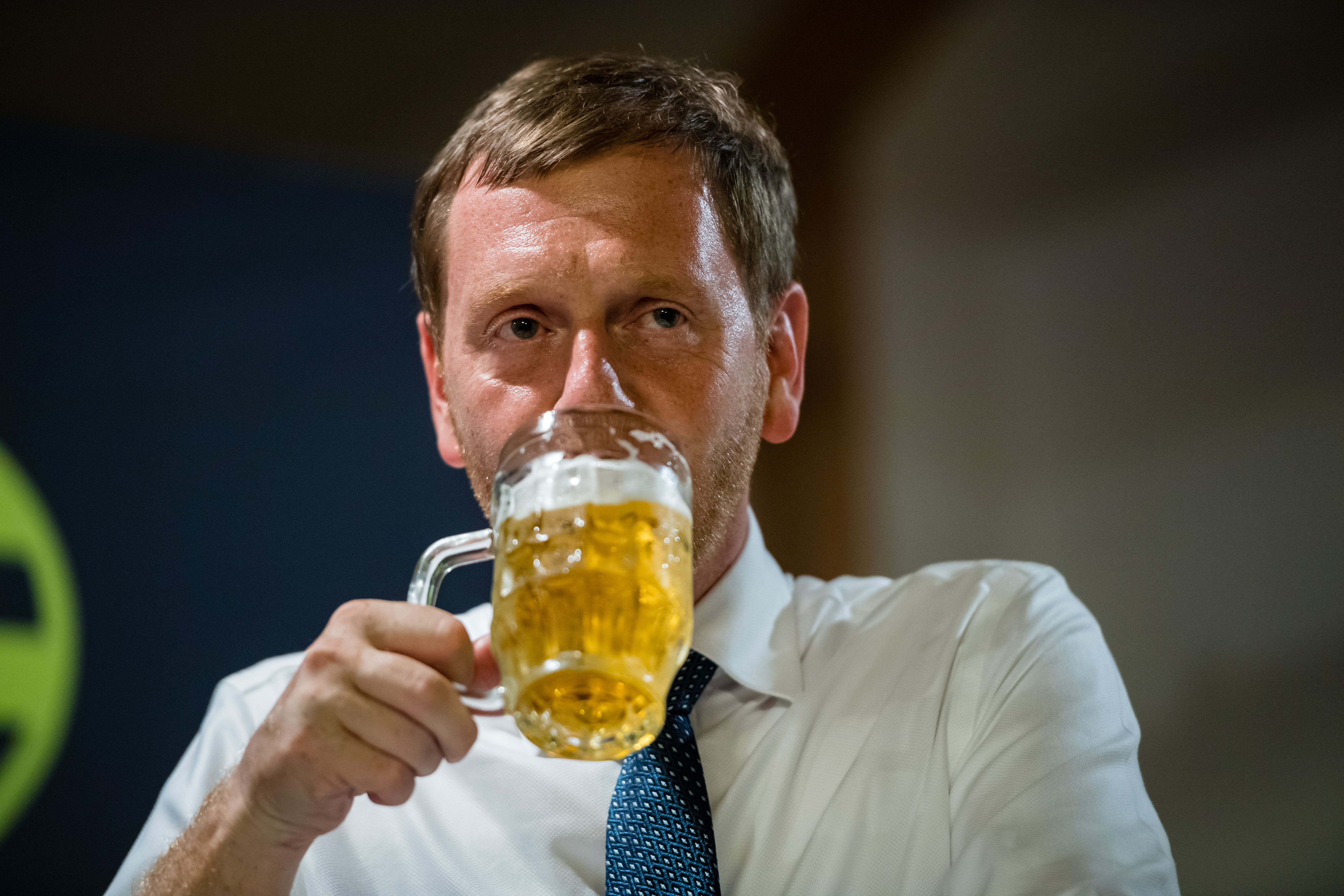 Saxony Governor Kretschmer Campaigns In State Elections