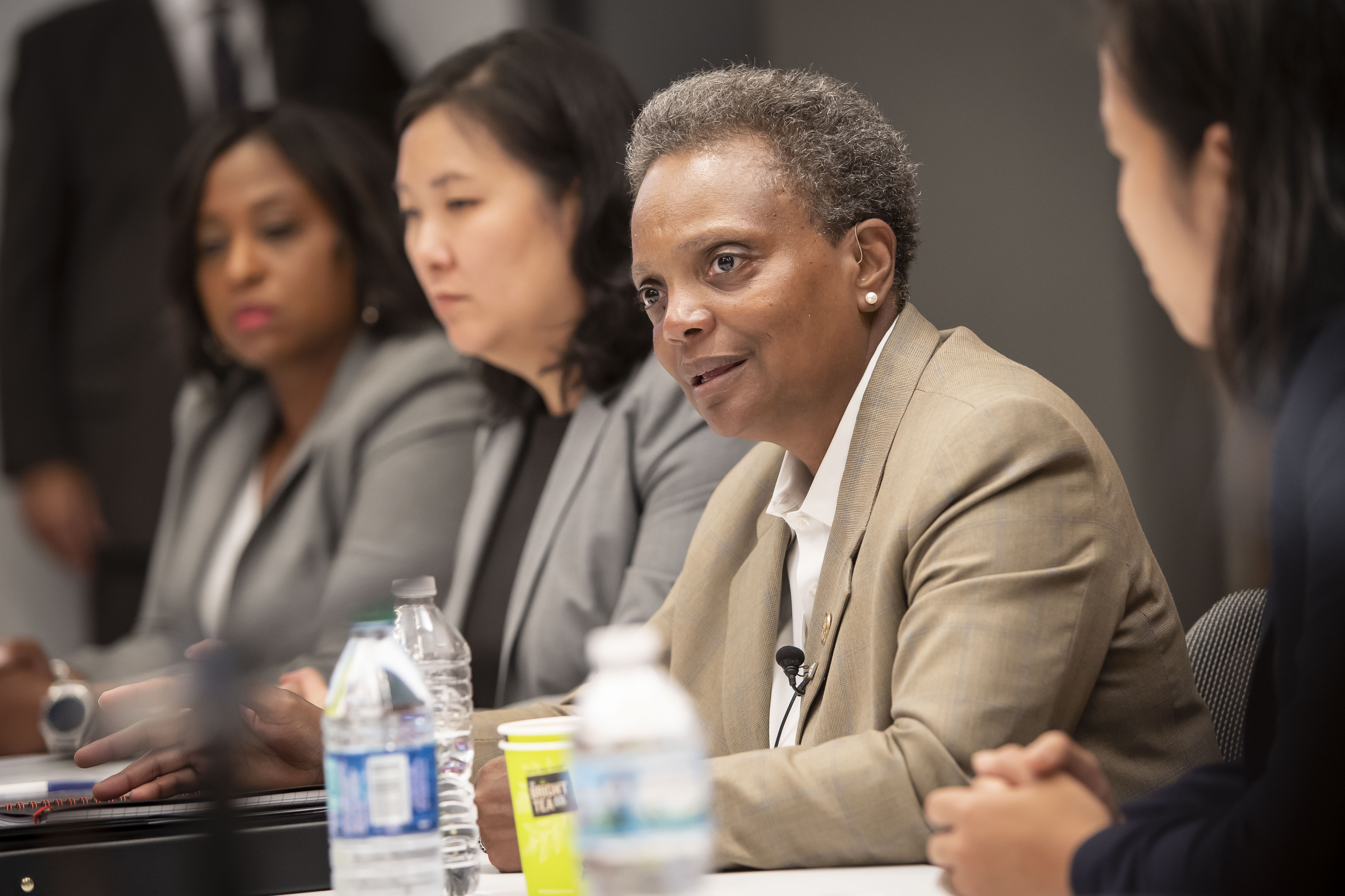 Mayor Lori Lightfoot meets on Friday with the Sun-Times Editorial Board.