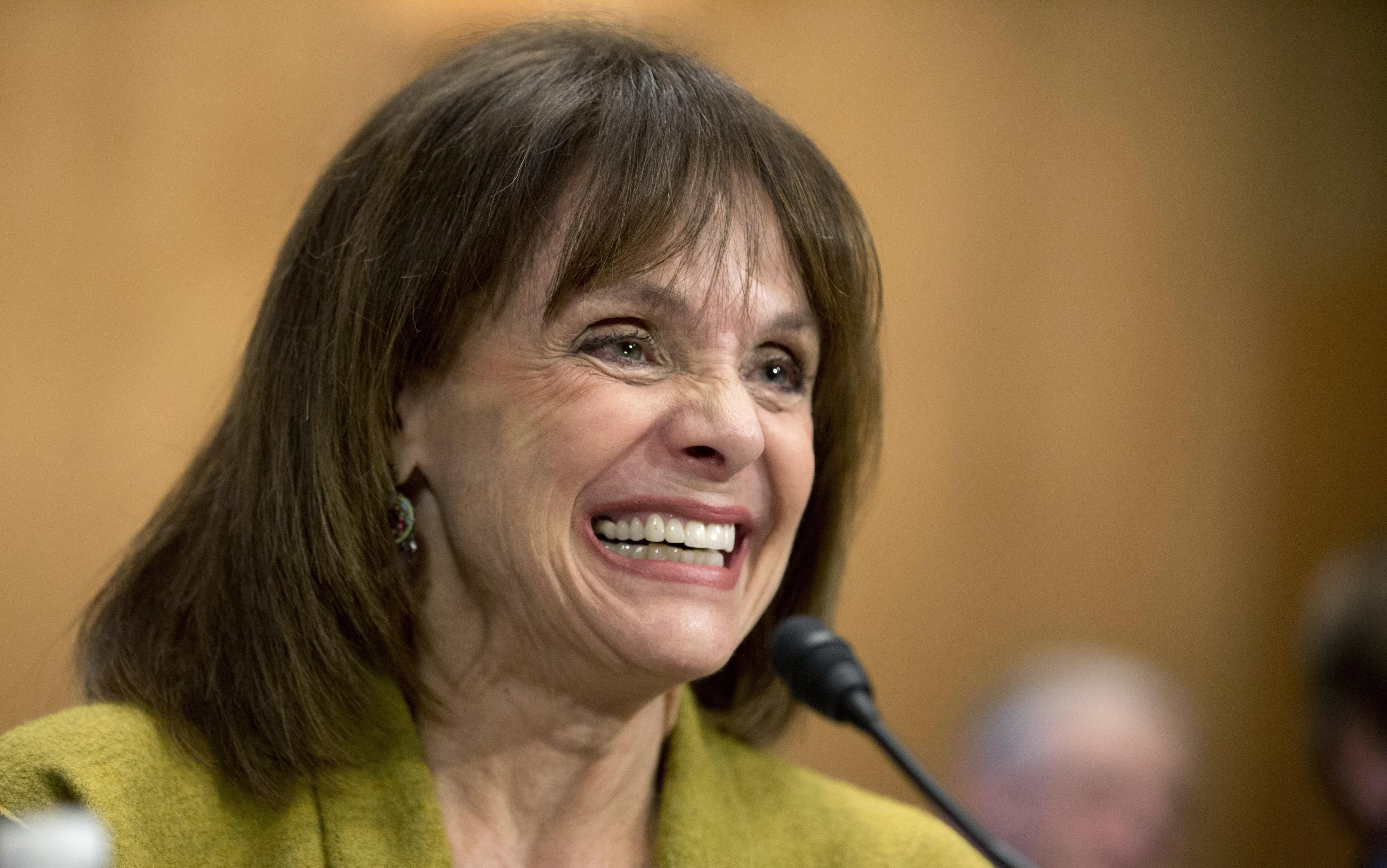 Actress Valerie Harper, testifies before a Senate Special Committee on Aging hearing to examine the fight against cancer on Capitol Hill in Washington, D.C., in 2014.