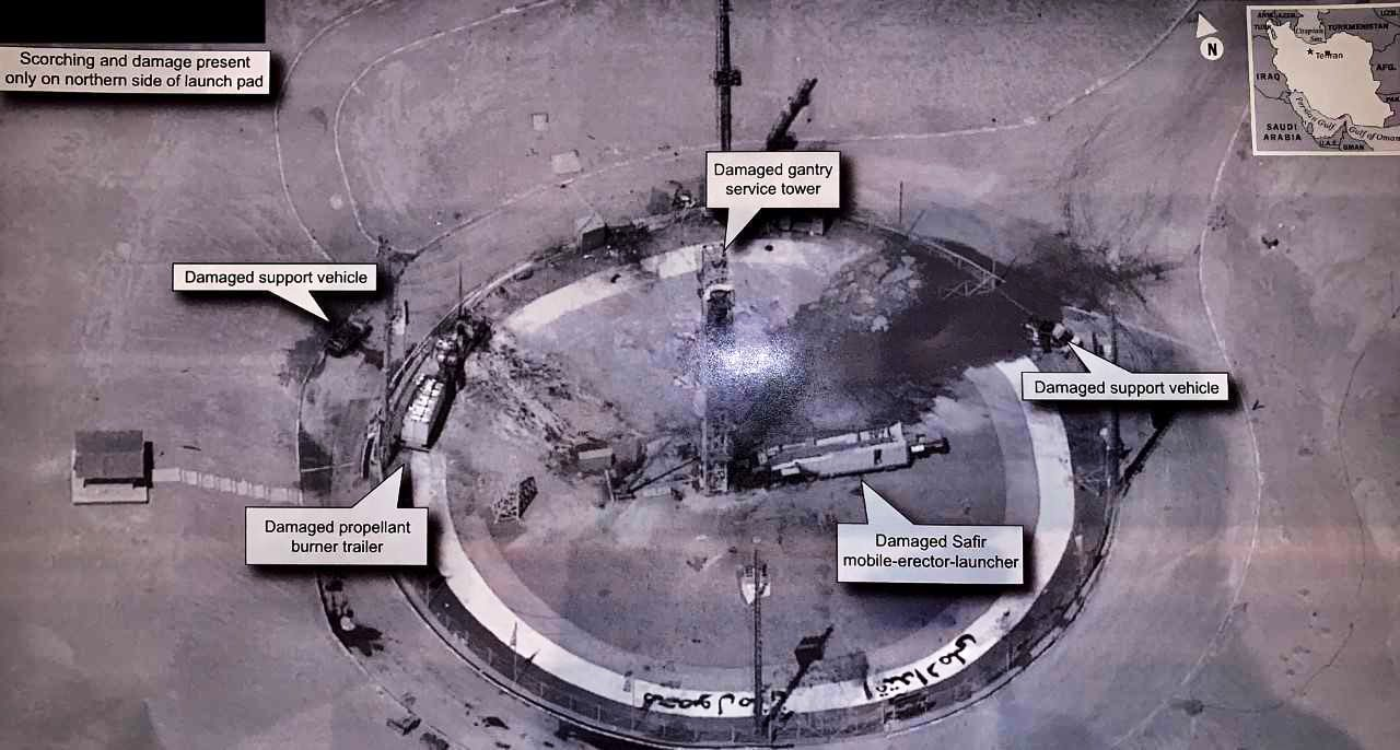 Experts worry Trump revealed US secrets when he tweeted a photo of an Iranian launch site