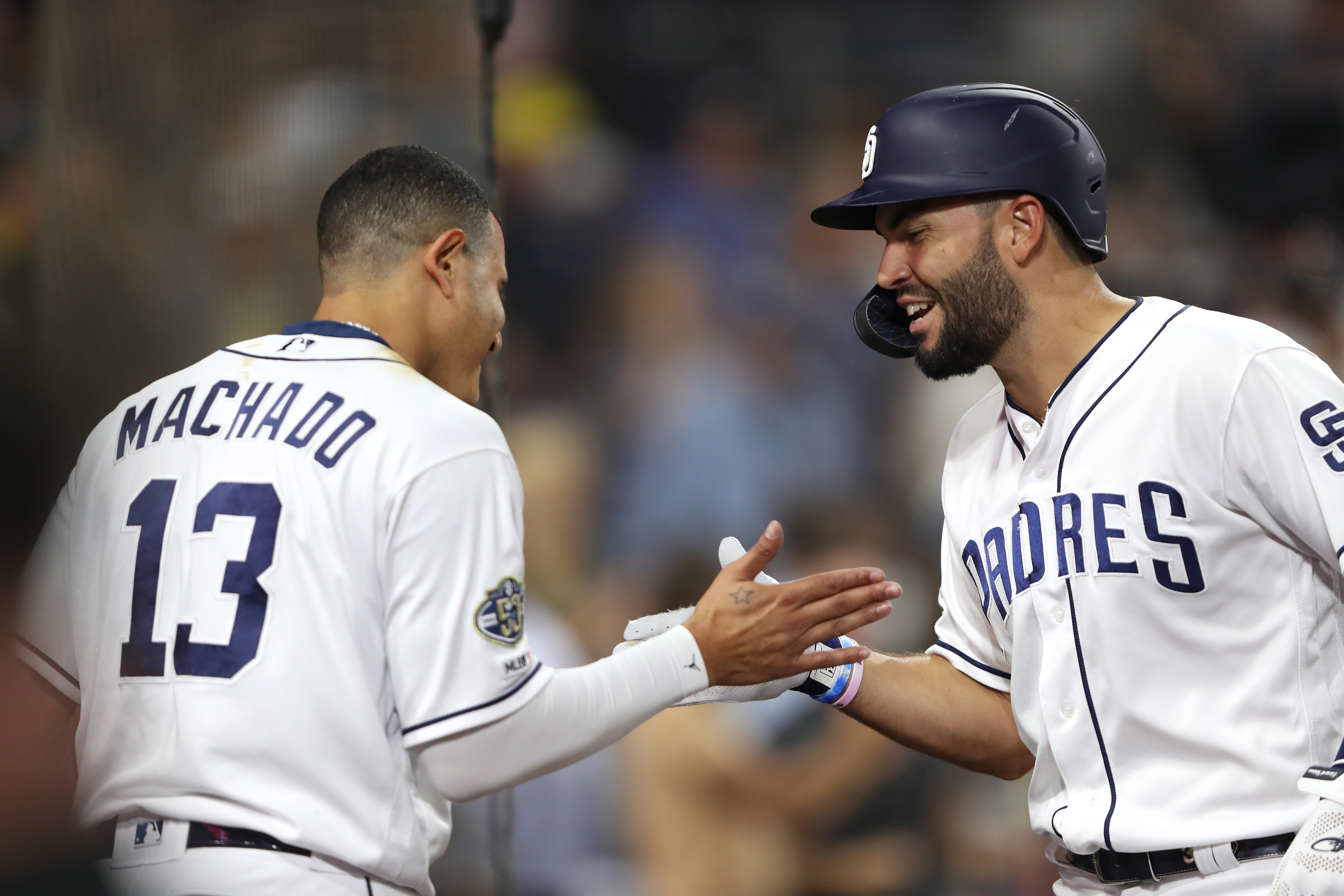 Padres Manny Machado and Eric Hosmer when they were not playing against the D-backs.