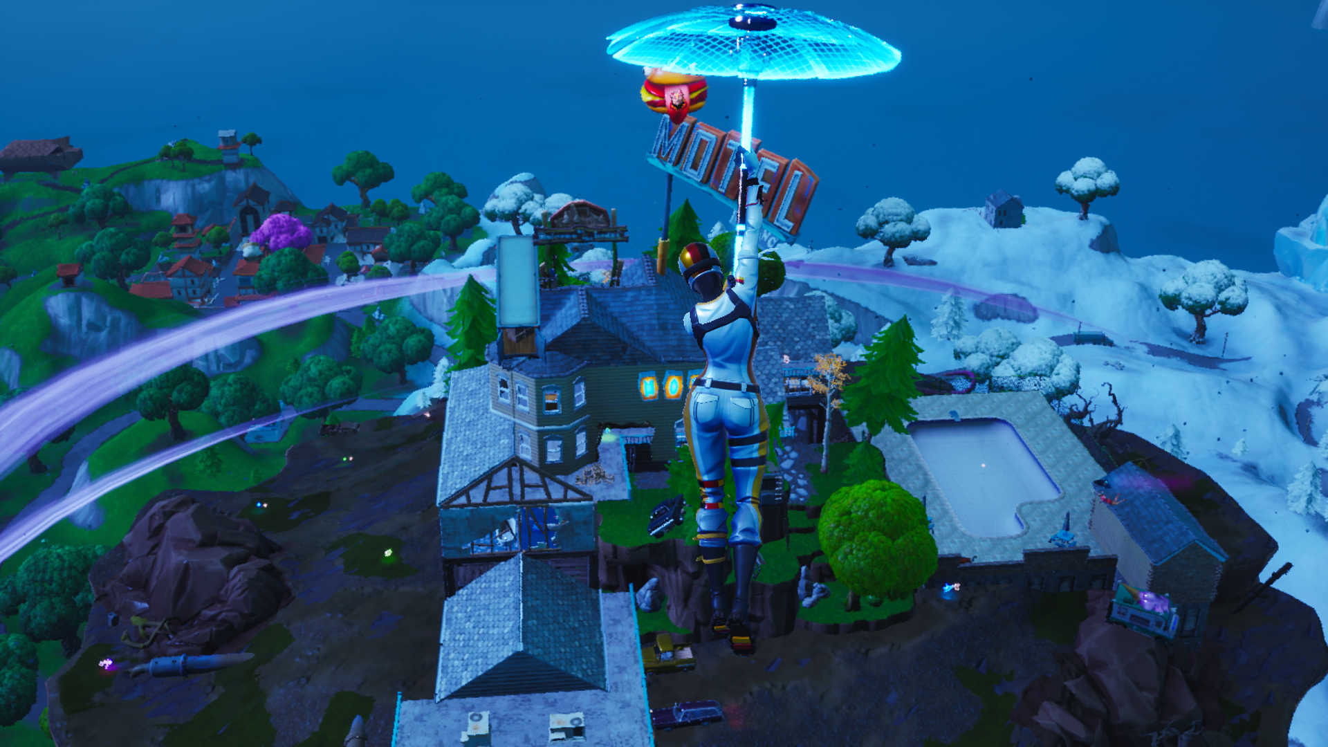 Fortnite patch v10.20 brings back season 6's floating island and the new Zapper Trap