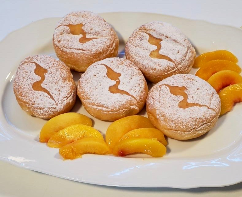 Peaches and cream doughnuts by Sublime Doughnuts for Magic City