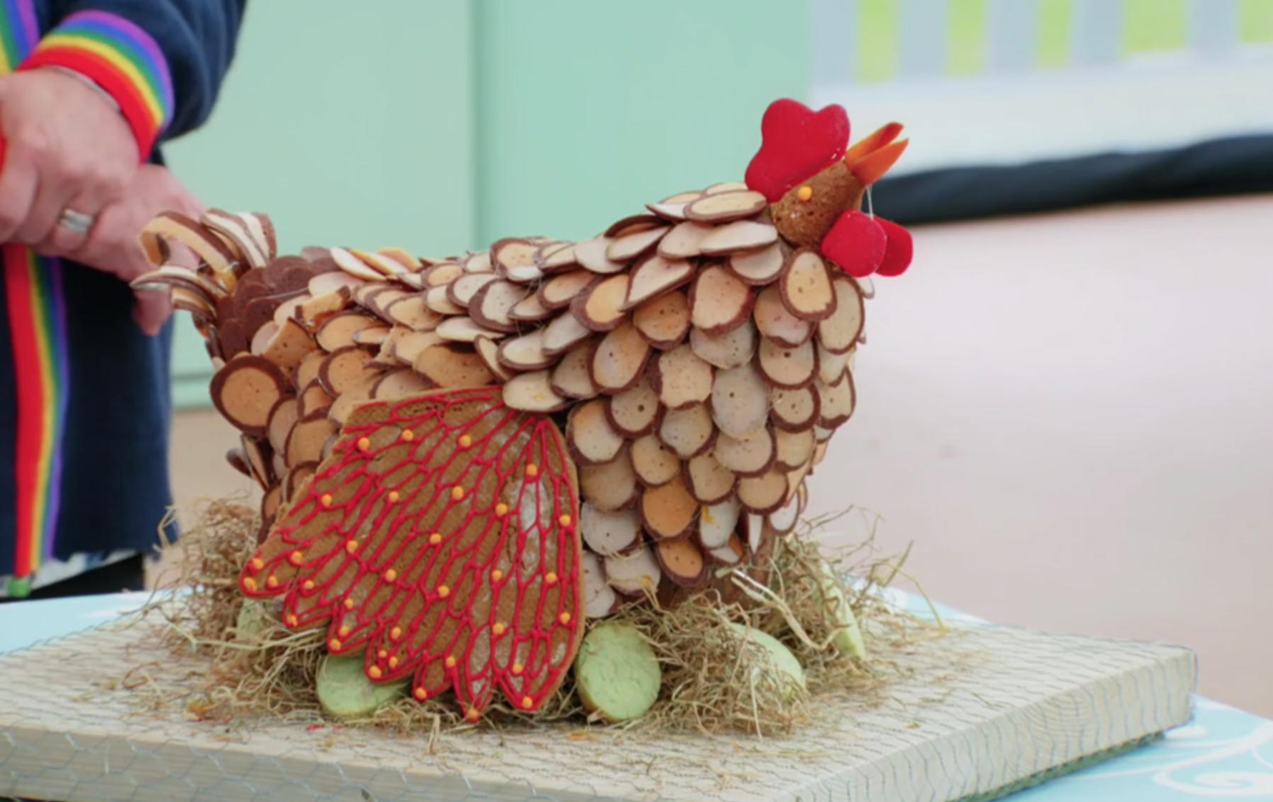 Great British Bake Off 2019 continues with Rosie's chicken made of biscuits