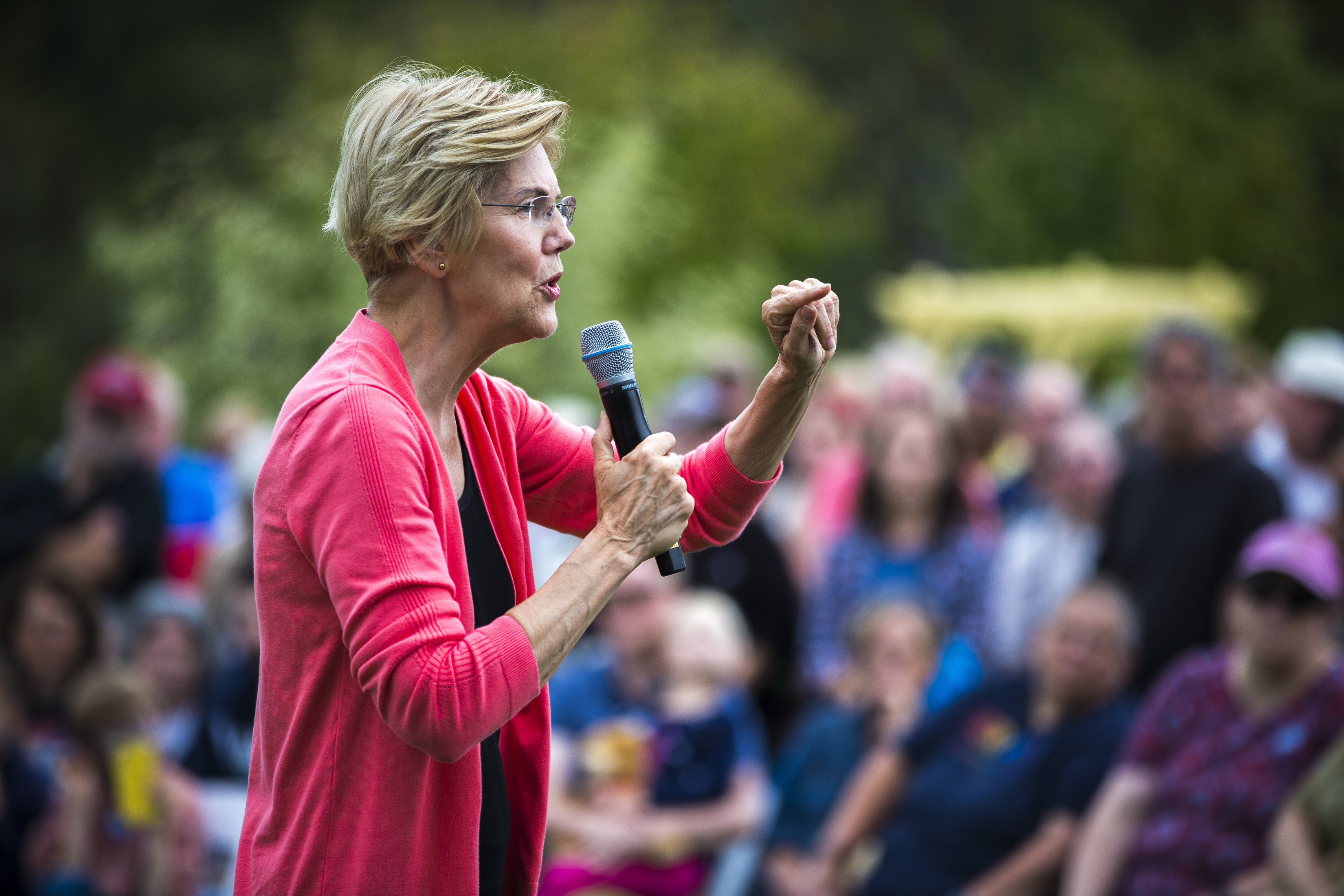 U.S. Senator And Presidential Candidate Elizabeth Warren Campaigns In NH