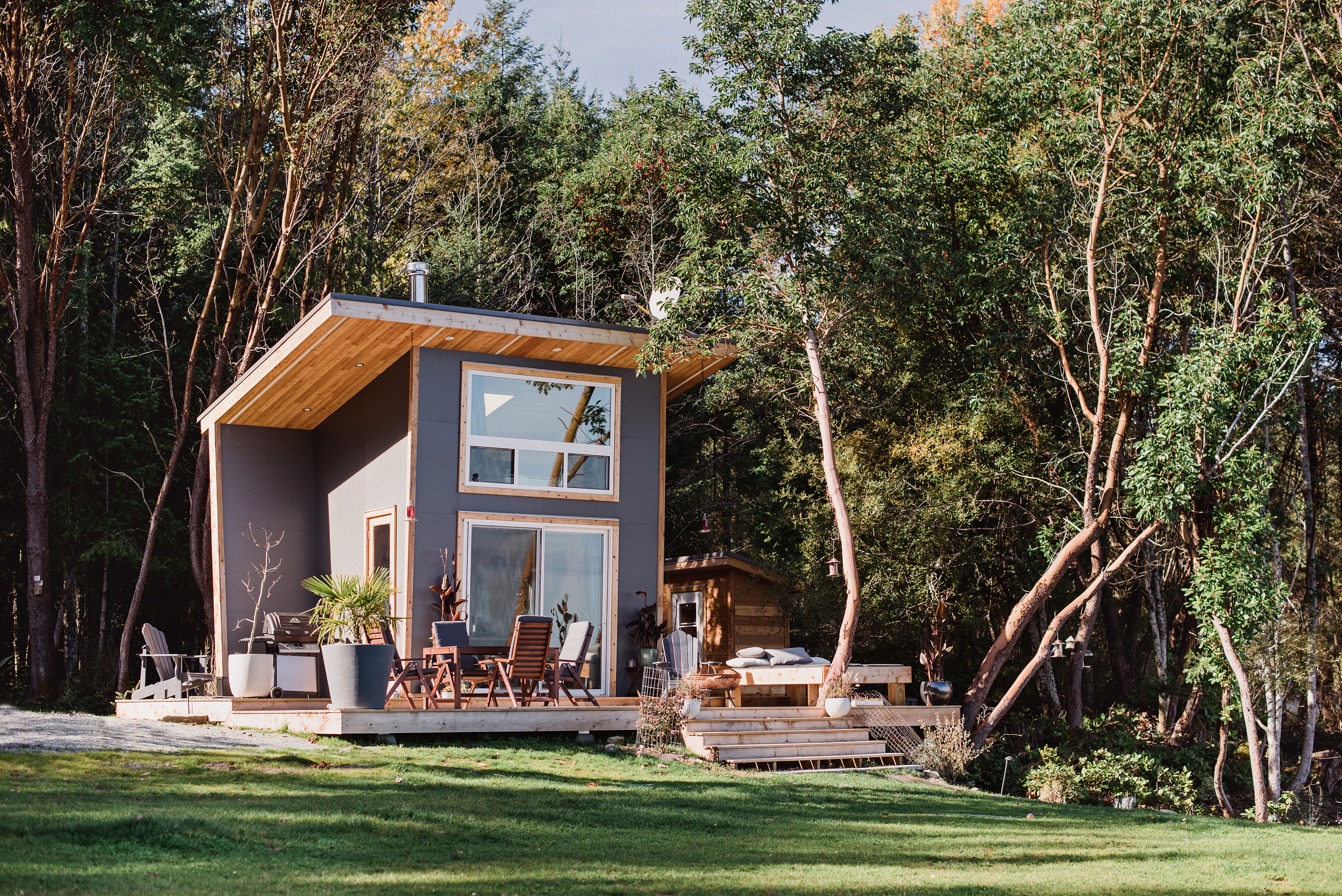 100-square-foot tiny house designed for indoor-outdoor living
