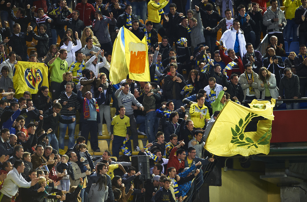 Villarreal fans in January 2012, the last time Los Che visited El Madrigal