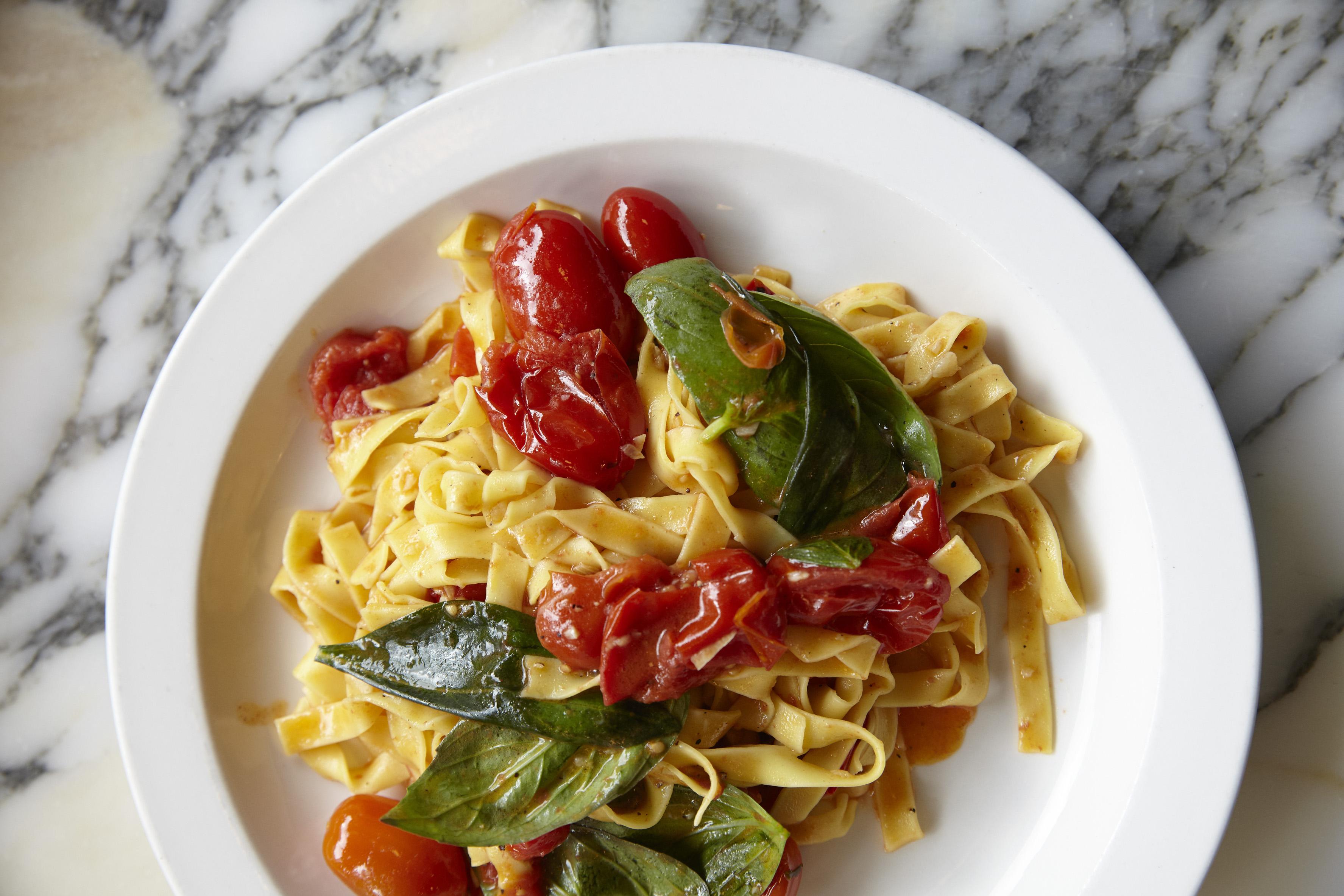 Tomato and basil pasta at Padella, in London Bridge. The restaurant run by Tim Siadatan will open on Phipp Street in Shoreditch
