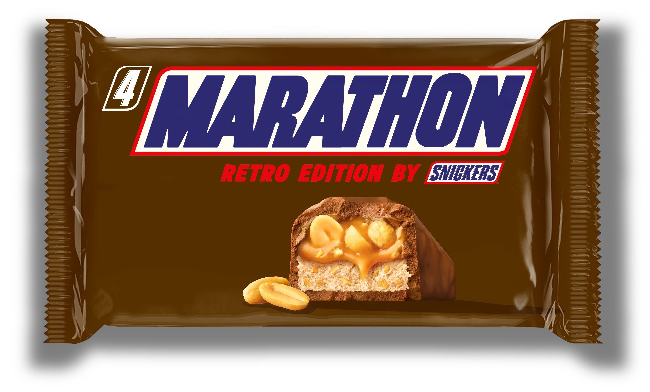 The Marathon bar packaging, which was replaced by Snickers