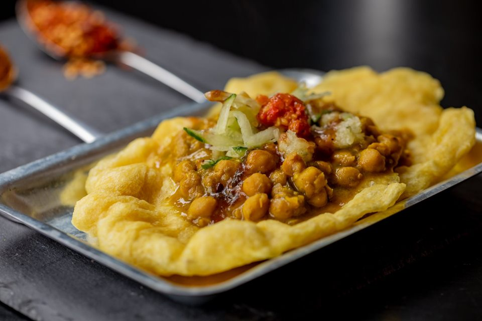 Limin's doubles —barra with chickpea curry and pepper sauce. The cult pop-up is hoping to secure a permanent restaurant space in east London this year