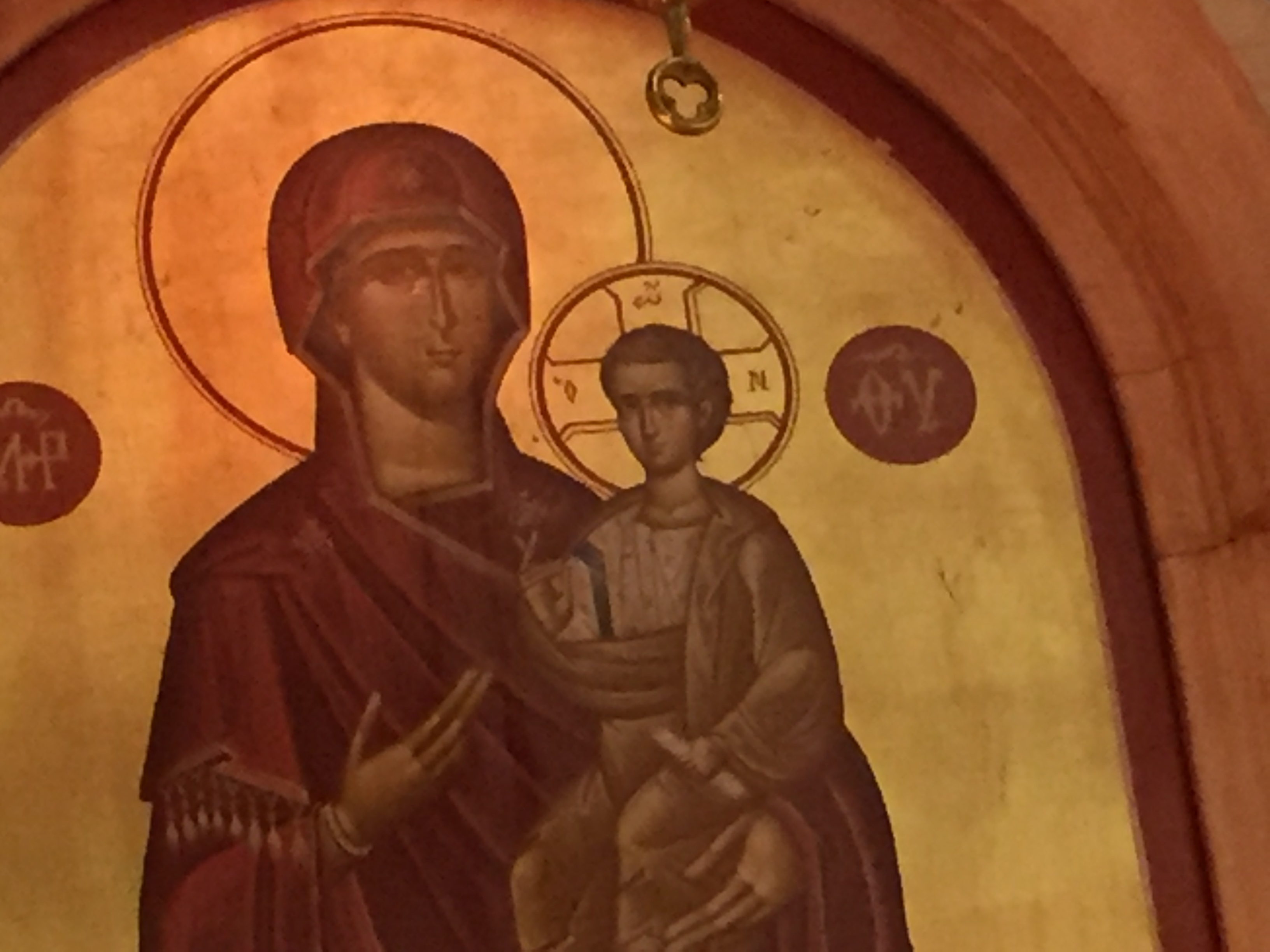 """""""Tears"""" having been falling from the Virgin Mary's face at Holy Trinity Hellenic Orthodox Church on the Northwest Side since Sunday morning."""