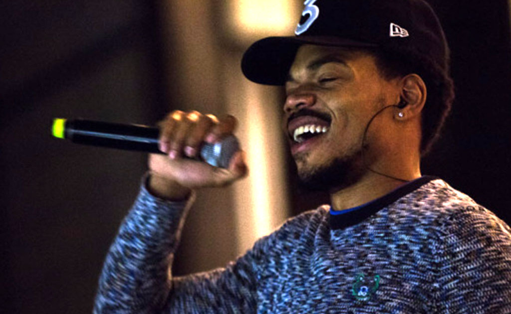 "Chance the Rapper performs at ""Chance the Rapper's Parade to the Polls"" at Grant Park's Petrillo Music Shell in 2016."