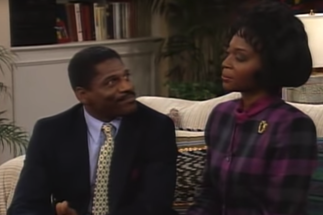 "John Wesley playing Dr. Hoover on ""The Fresh Prince of Bel Air."""