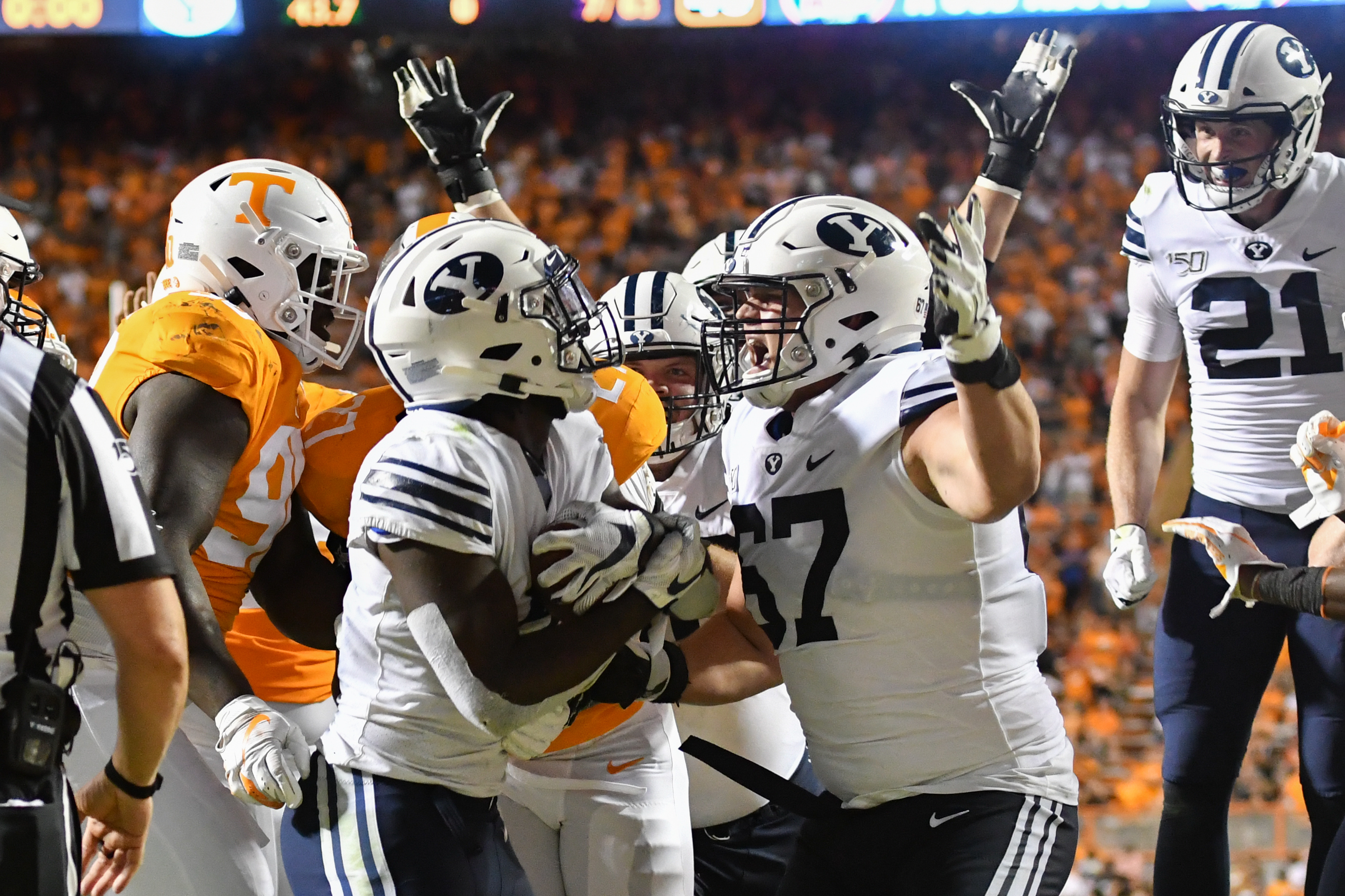 NCAA Football: Brigham Young at Tennessee
