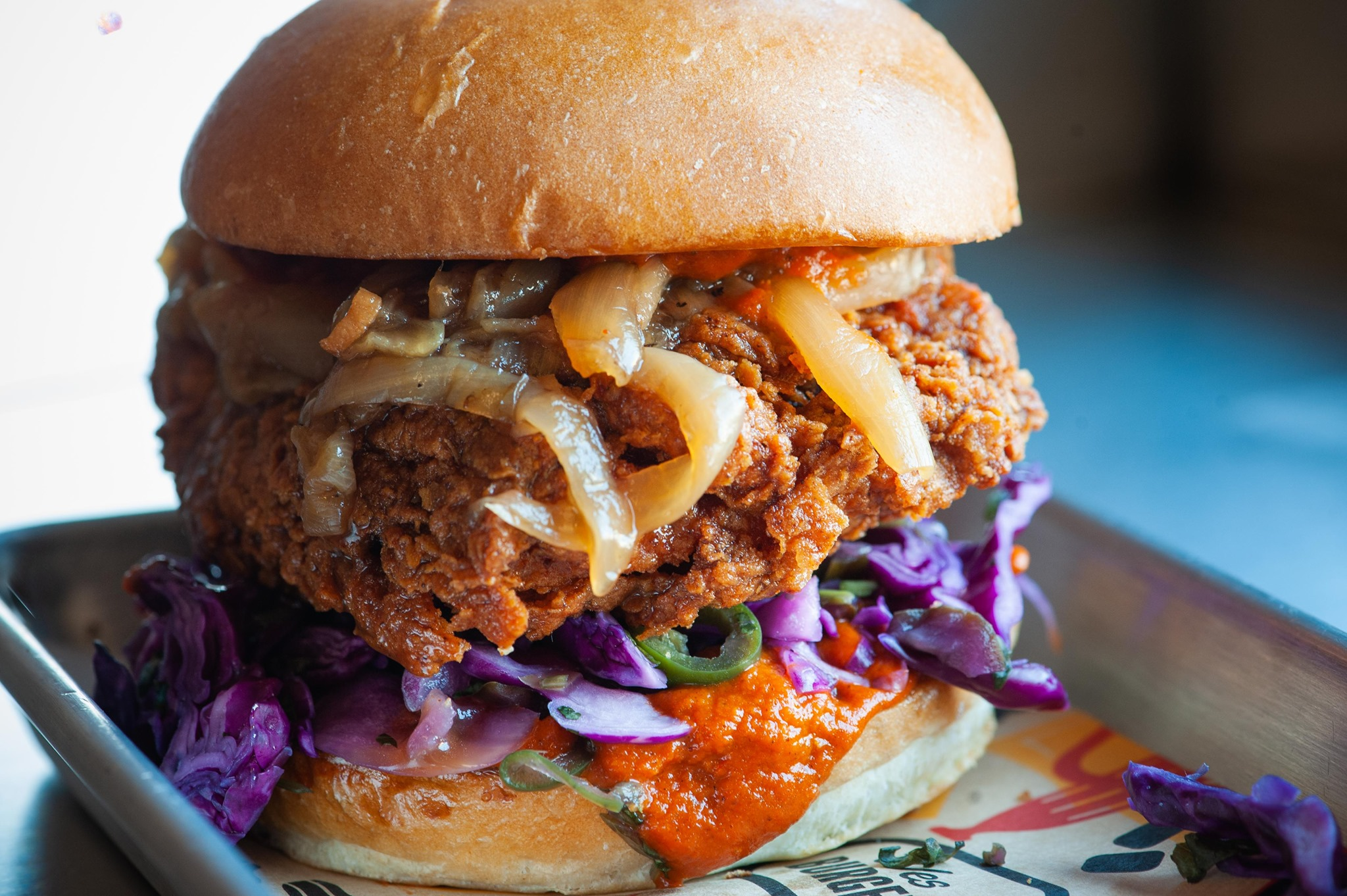 Fried chicken sandwich from WesBurger