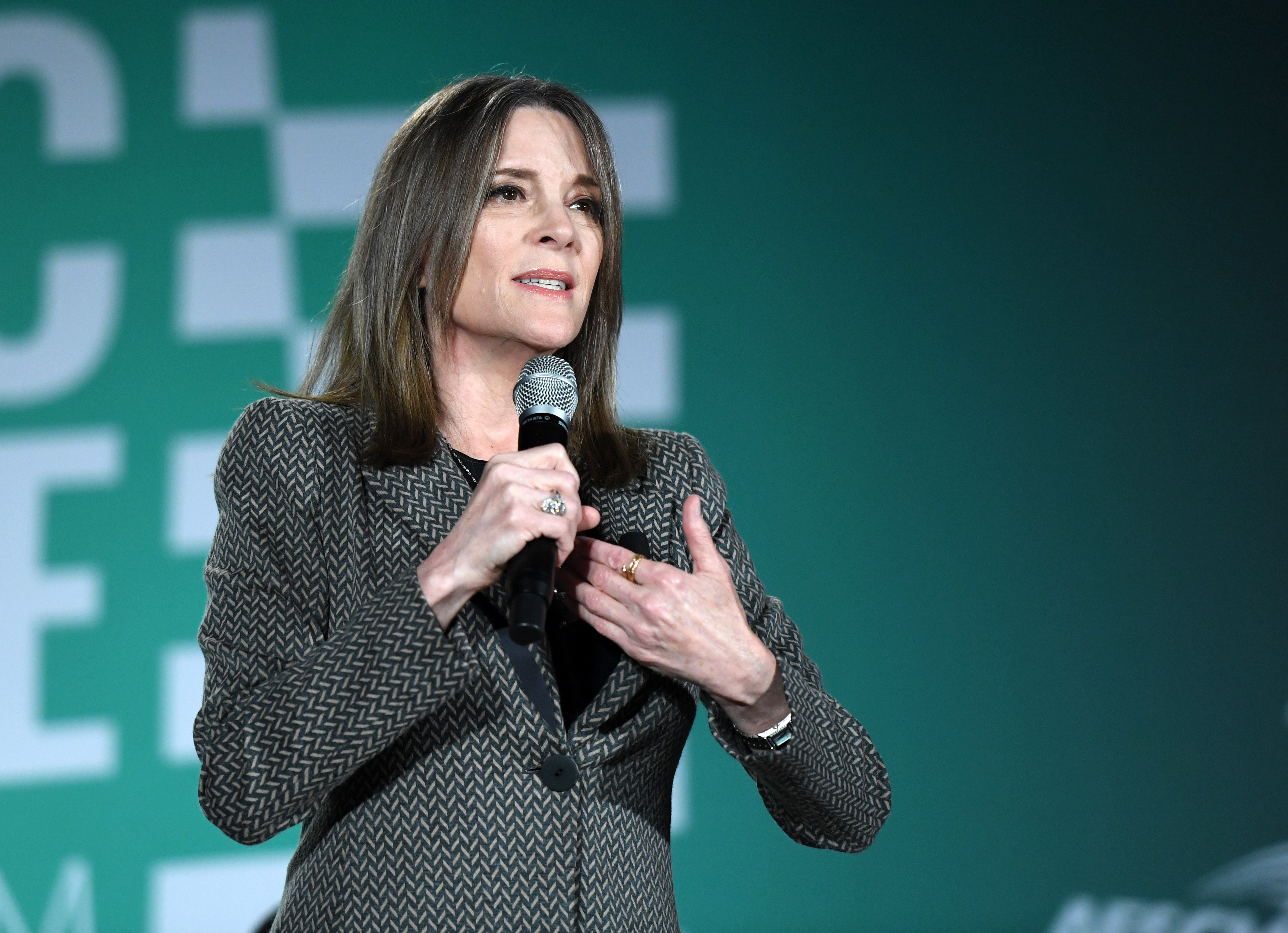 2020 presidential candidate Marianne Williamson.