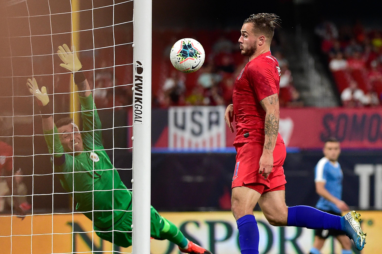 足球:在美国举行的国际足球友谊赛-乌拉圭