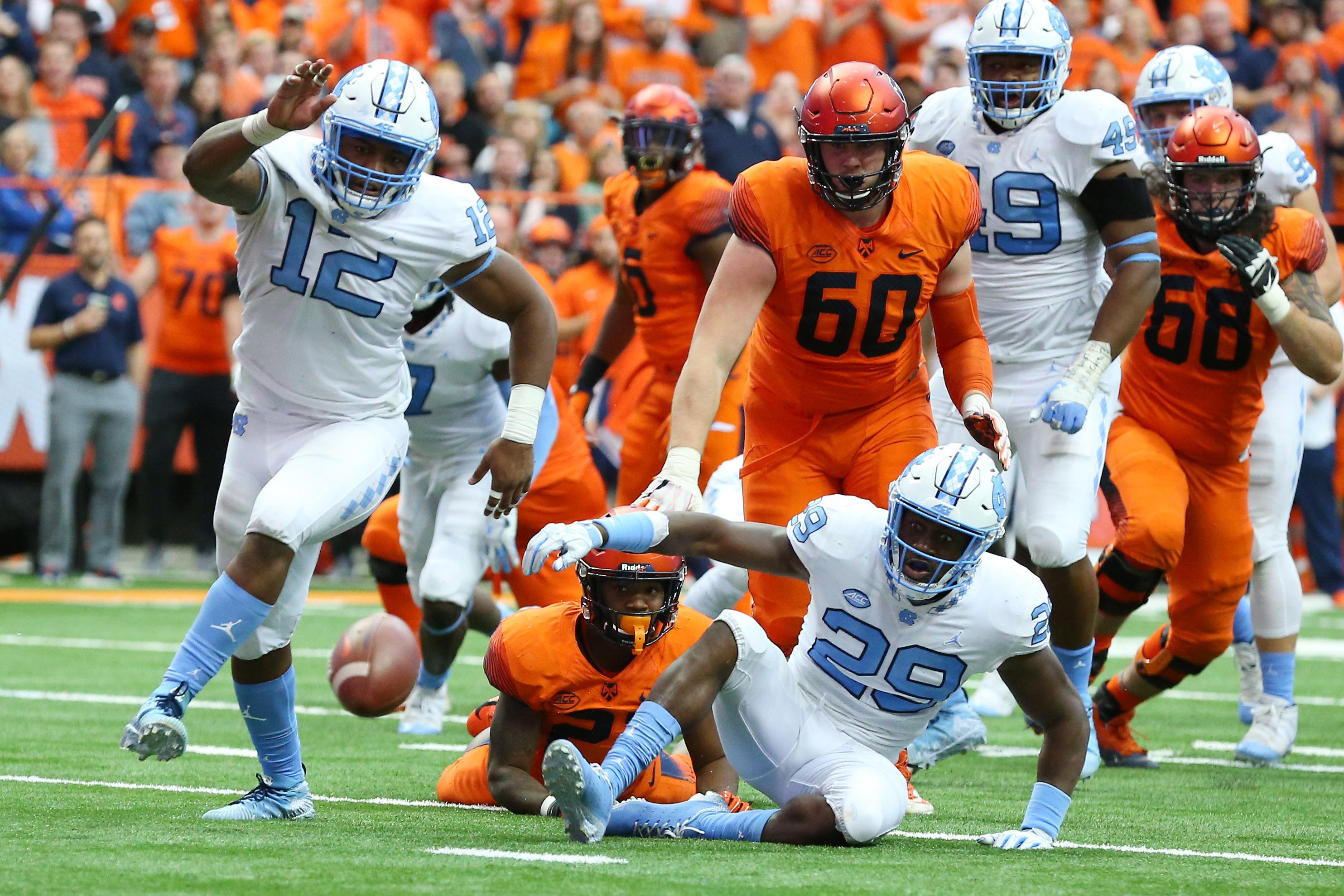 NCAA Football: North Carolina at Syracuse