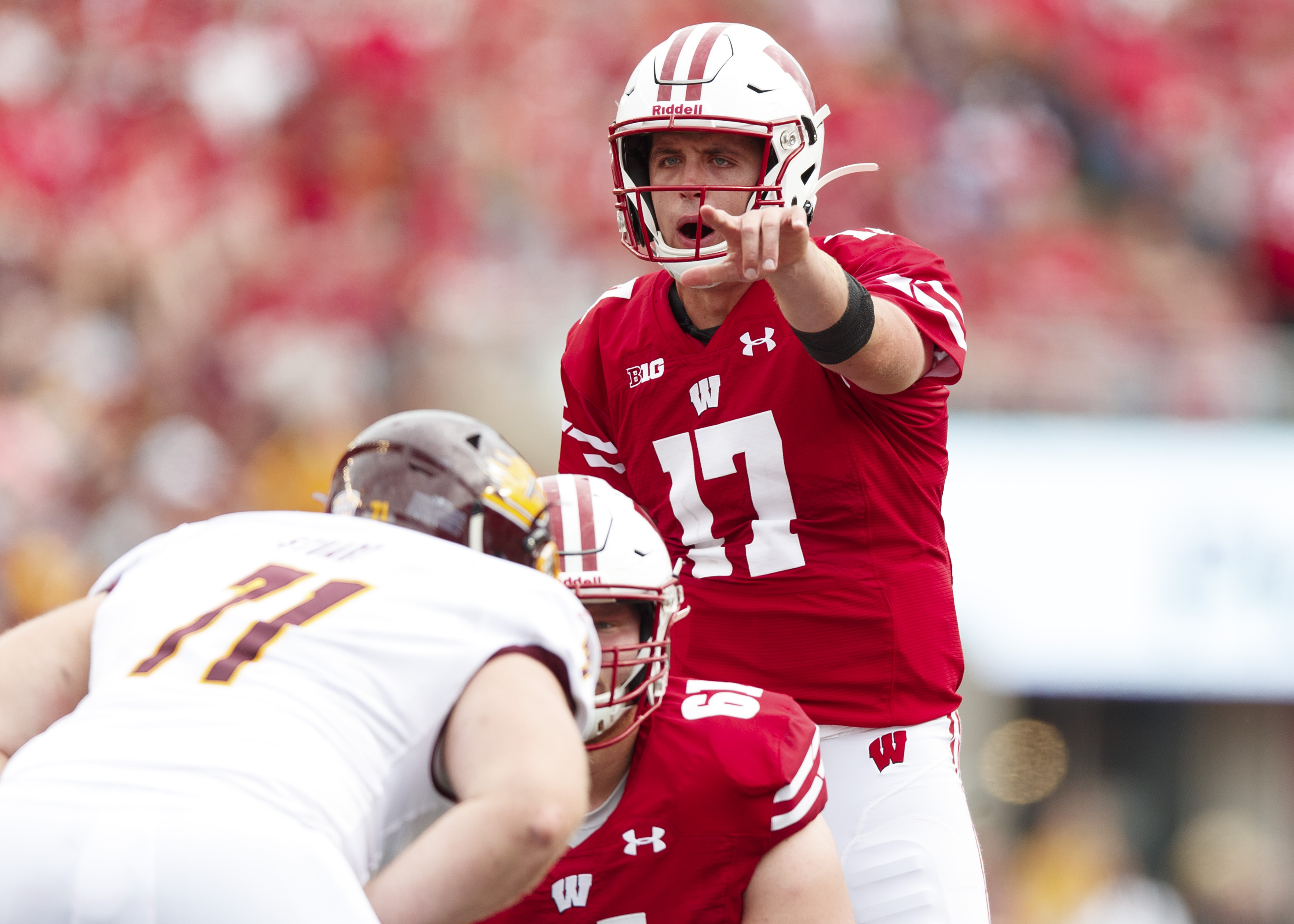 NCAA Football: Central Michigan at Wisconsin
