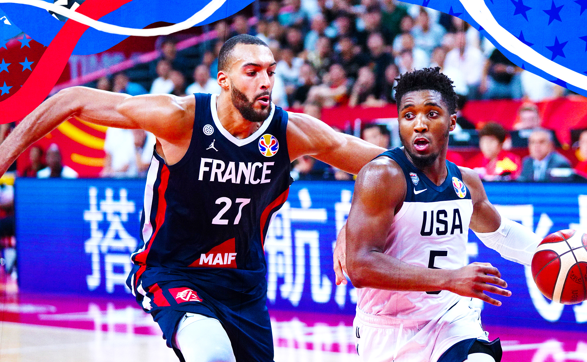 Team USA was spooked by Rudy Gobert ... on both ends.