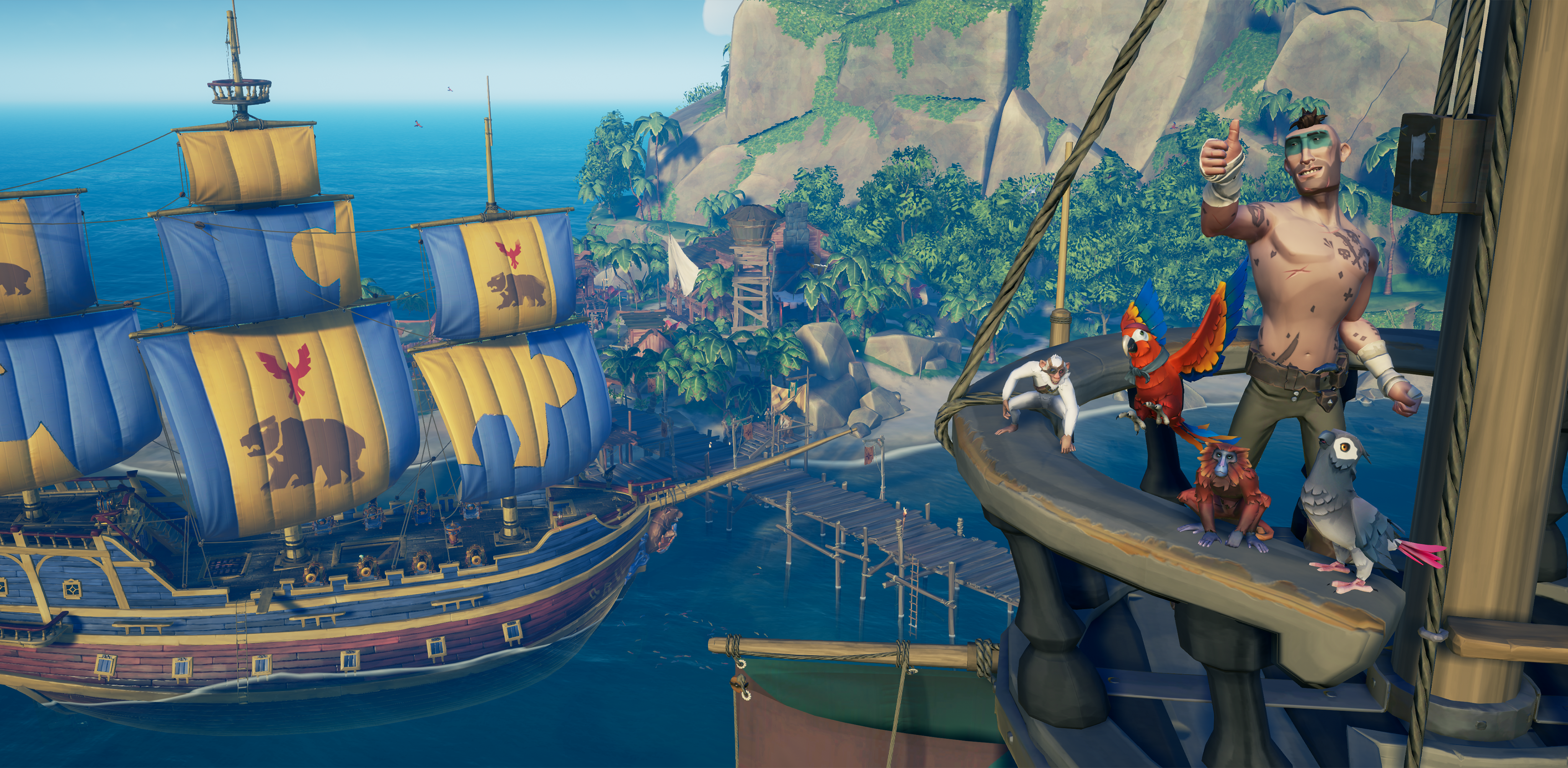 Sea of Thieves' Smuggler's Fortune update is now live, and it adds pets