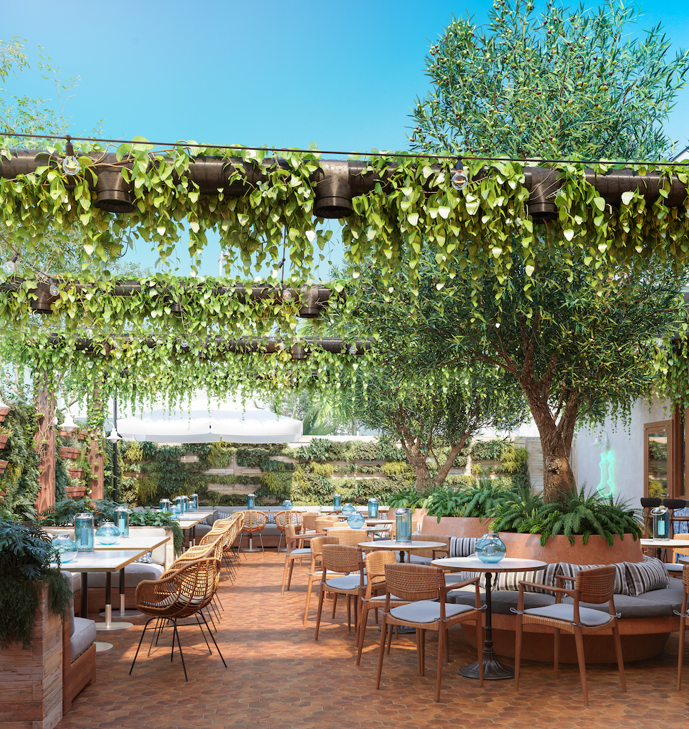 Renderings for Lowell Farms: A Cannabis Cafe in West Hollywood